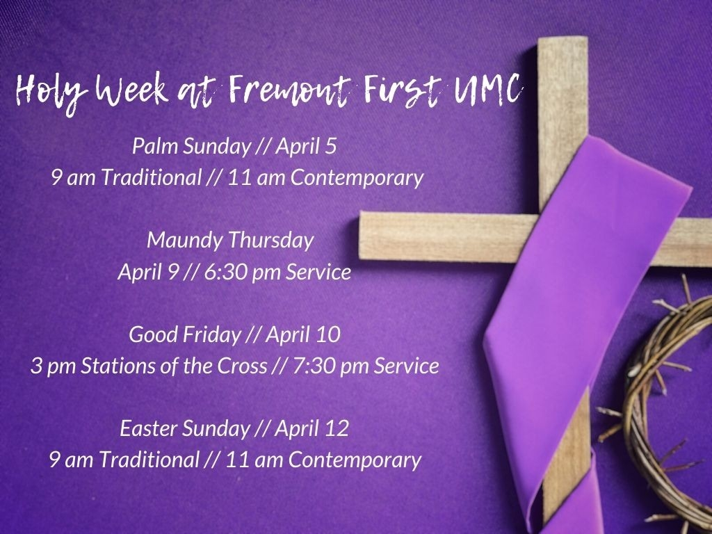 Mrd: Holiday Events And Services  Lent Dates 2020 Umc