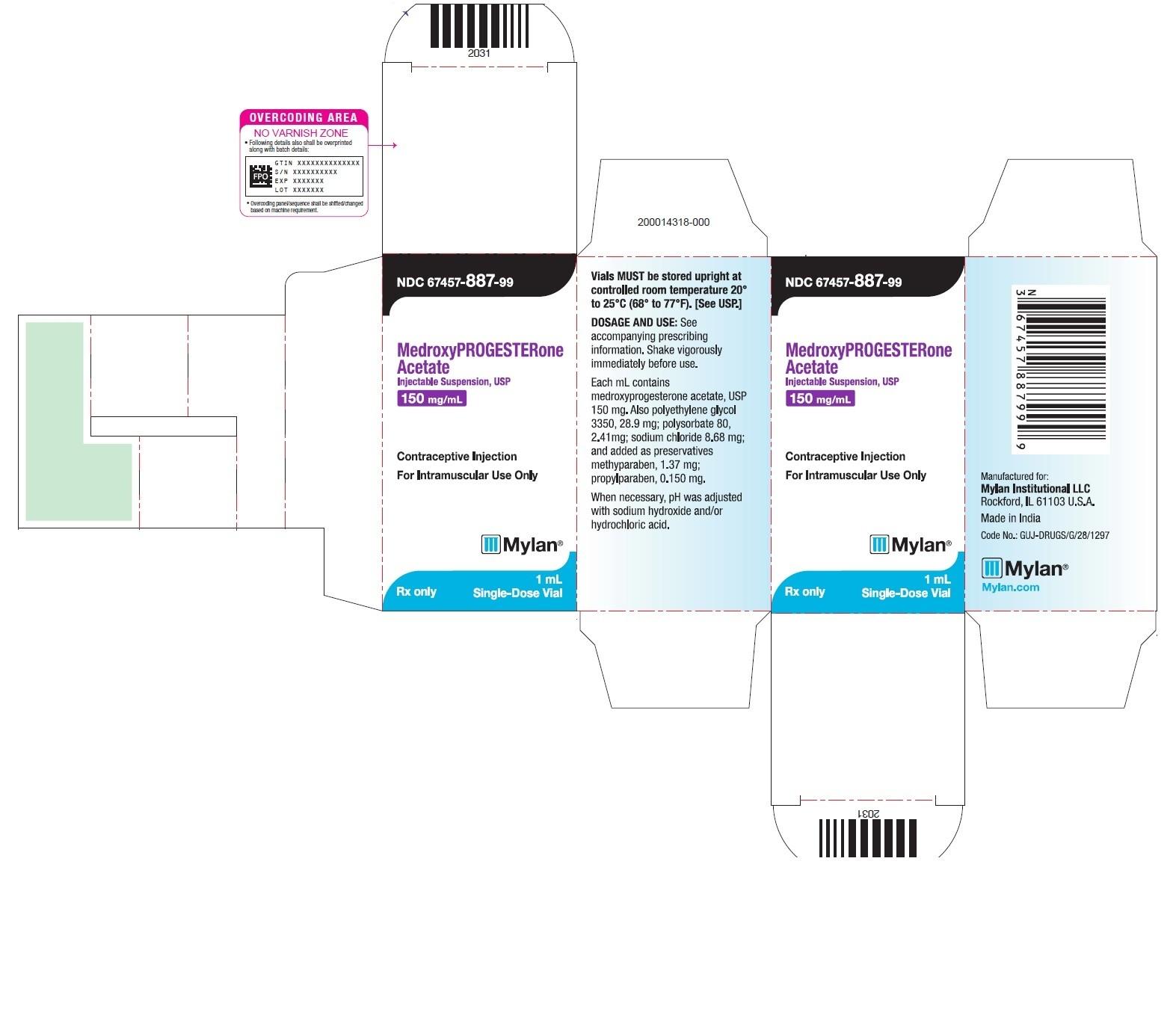 Ndc 67457-887 Medroxyprogesterone Acetate  Ndc Code Depo Provera 2020