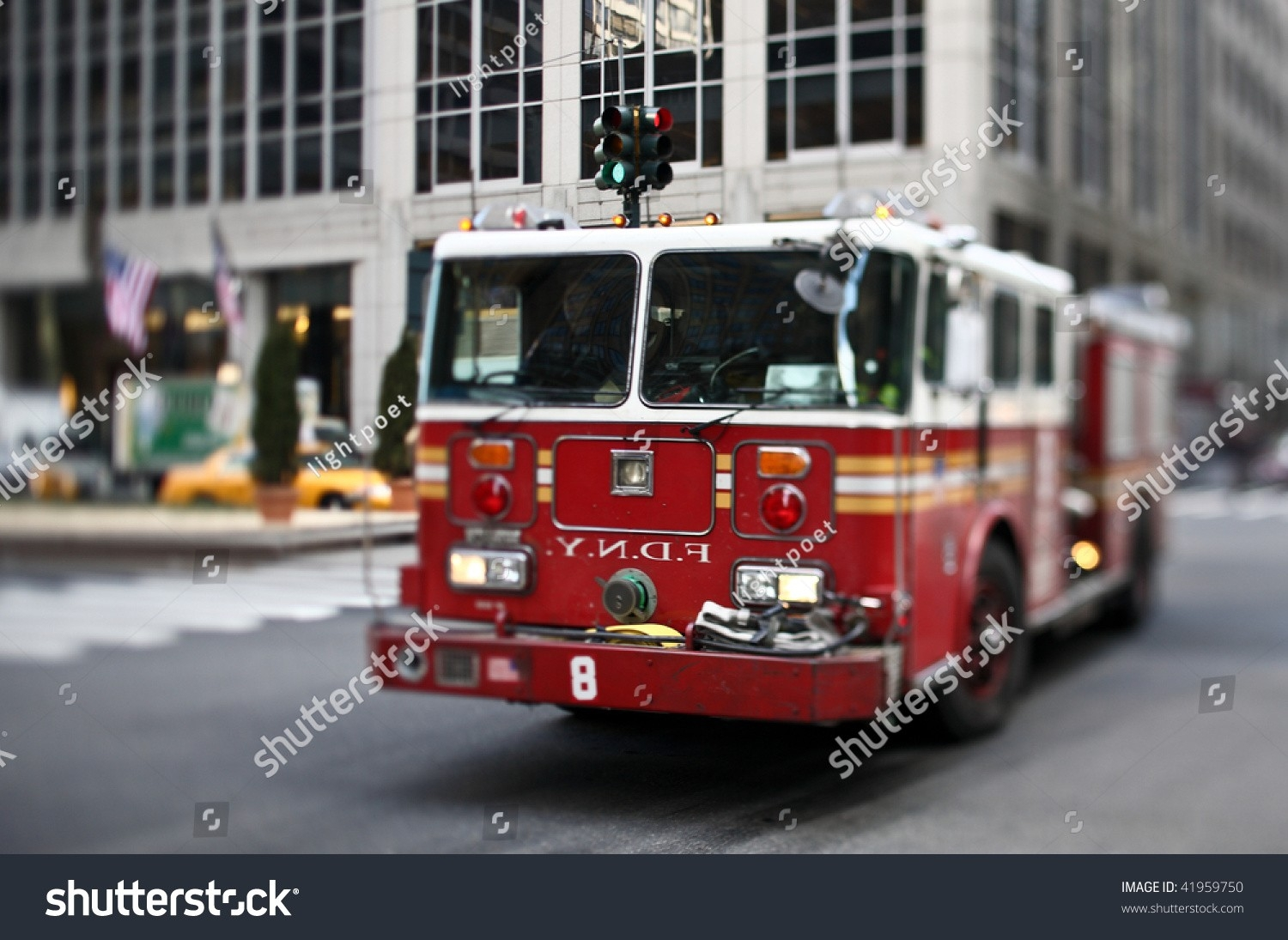 Nyfd Vehicle Midtown Manhattan Selective Focus Stock Photo  What Are The Nyfd Shifts