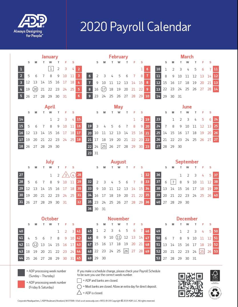 Payroll Calendar 2020 | Pay Period Calendar 2020  Federal Payroll Calendar 2020