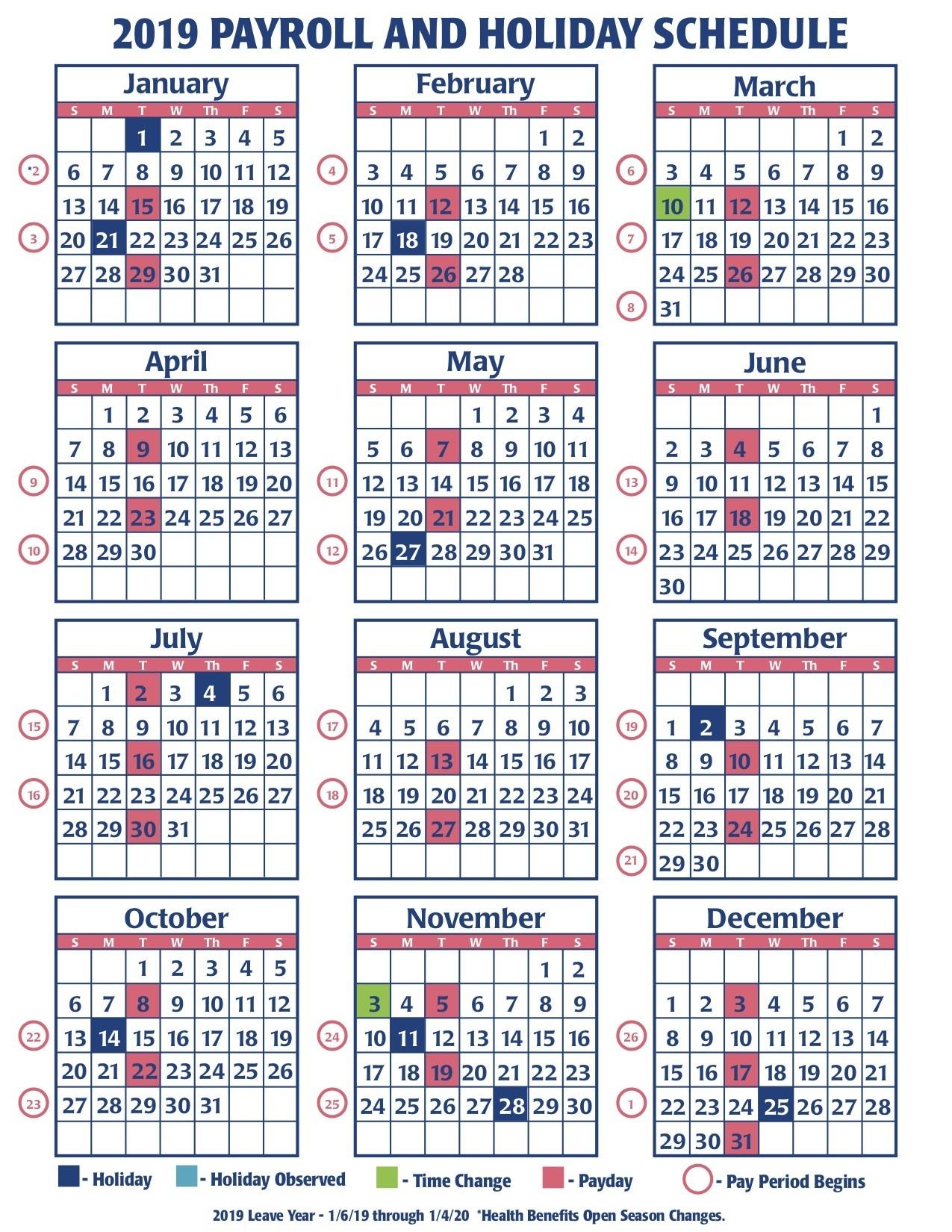 Payroll Calendar Federal Government | Payroll Calendar 2020  2020 Government Payroll Calendar