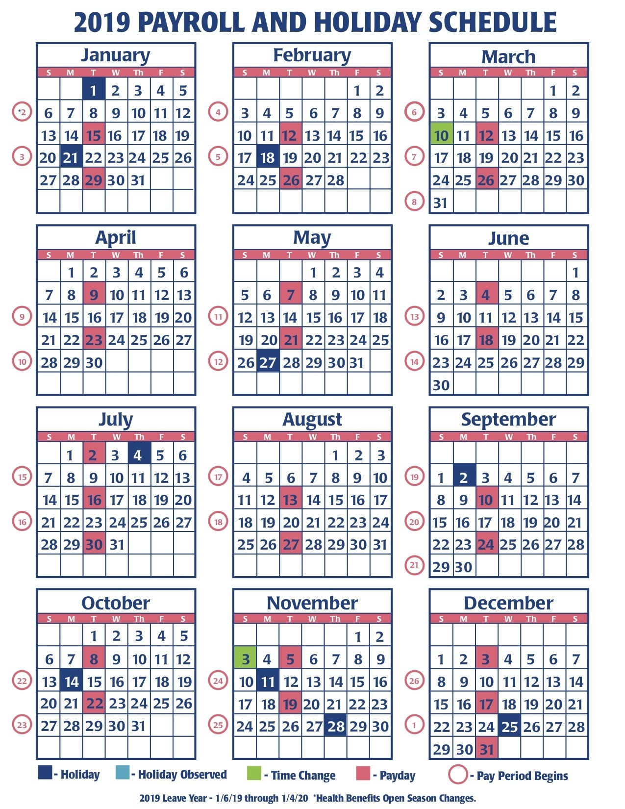 Payroll Calendar Federal Government | Payroll Calendar 2020  Federal Payroll Calendar 2020