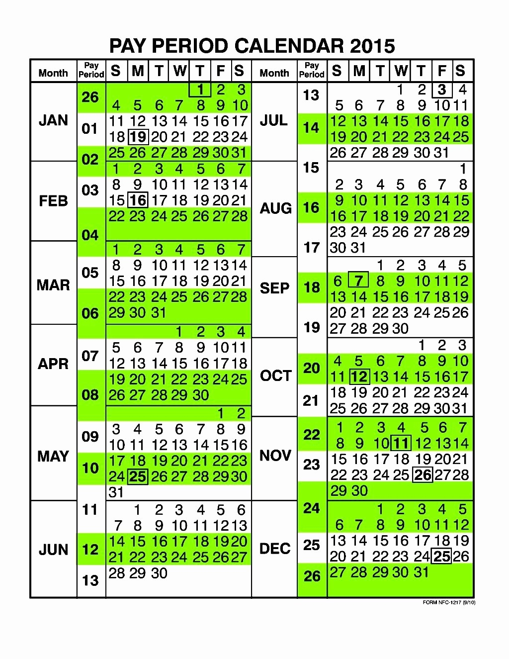 Postal Calendar 2018 Government Pay Period Calendar 2017  2020 Postal Pay Periods