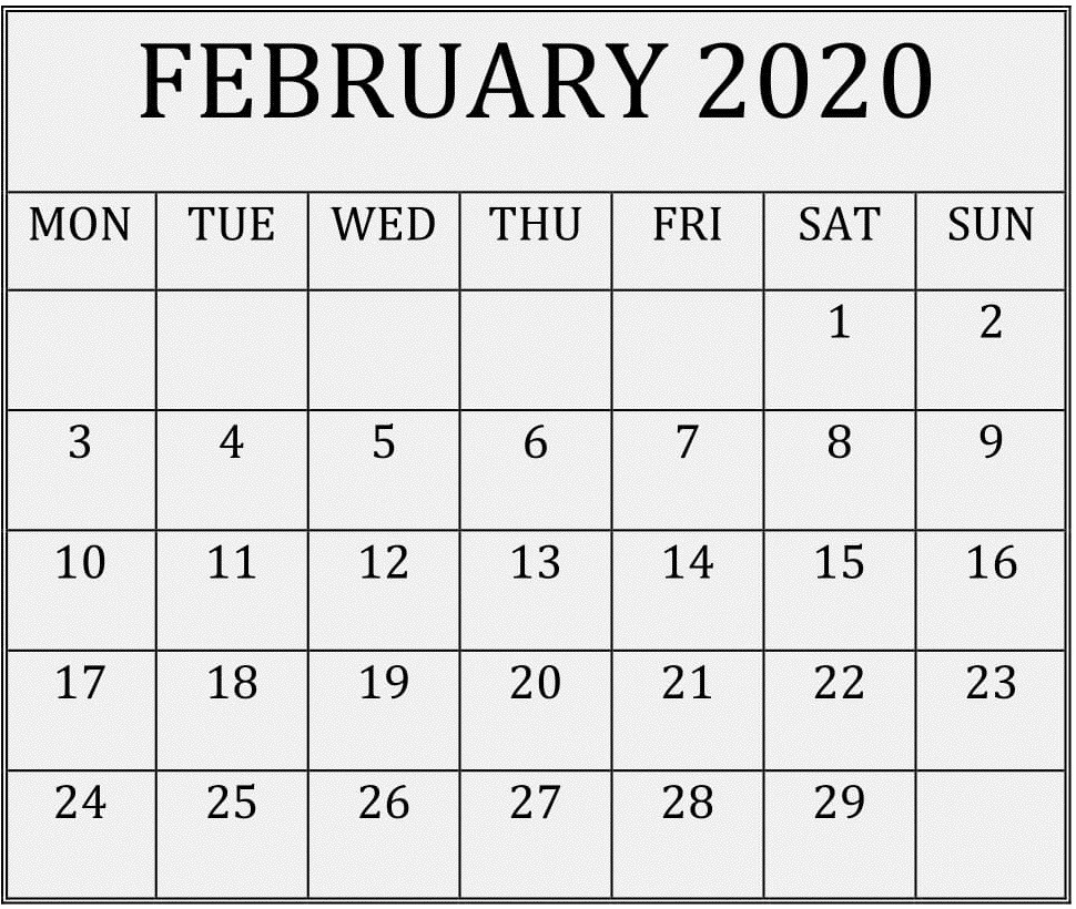 Print Free Calendars Without Downloading 2020 – Samyysandra  Print Free Calendars Without Downloading