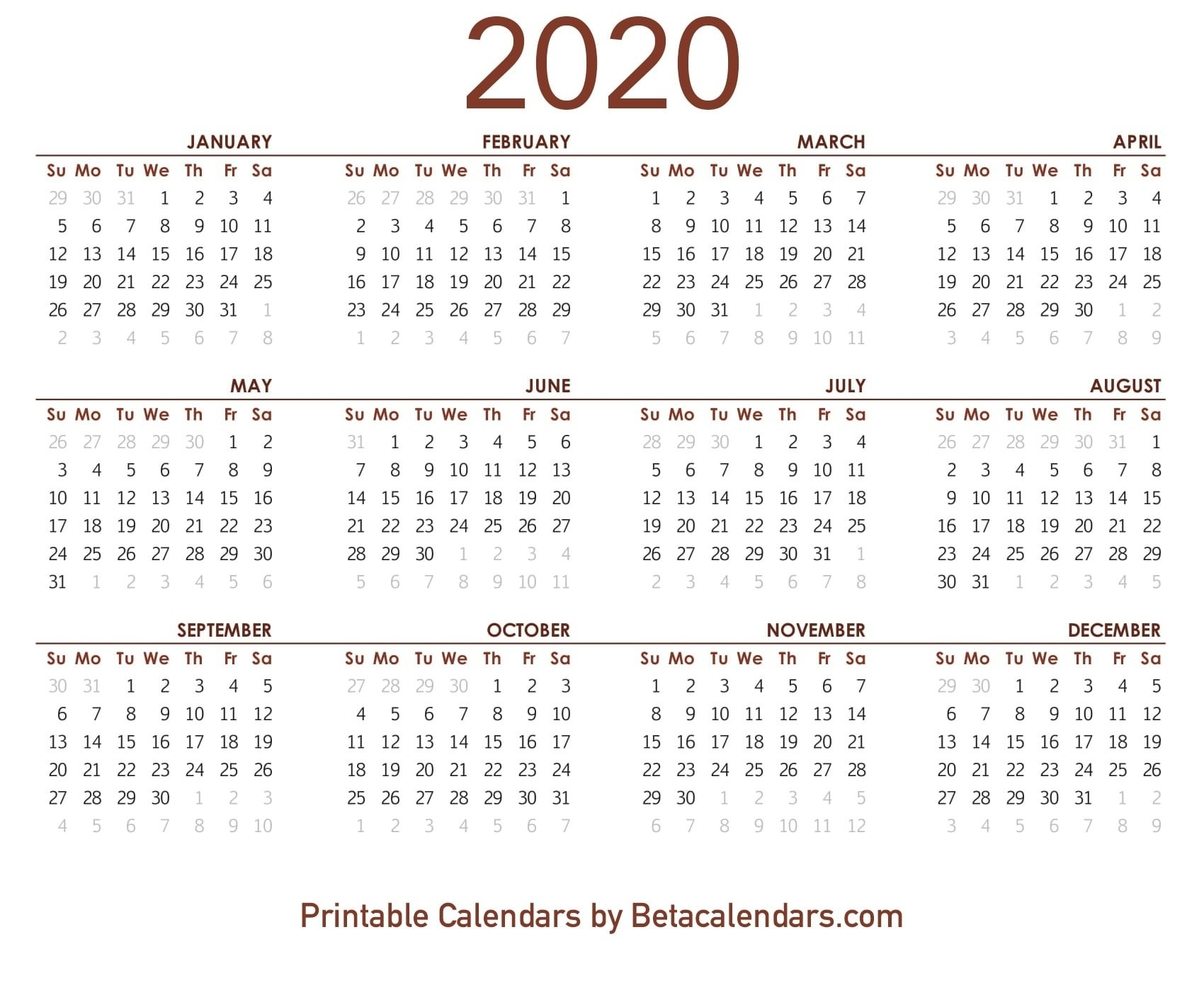 Printable 2020 Lunar Calendar | Monthly Printable Calender  Solar Lunar Calendar 2020