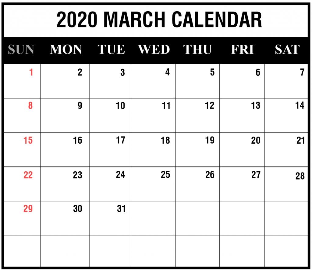 Printable Attendance Calendar 2020 - Menom  March 2020 Homeschool Attendence Tracker
