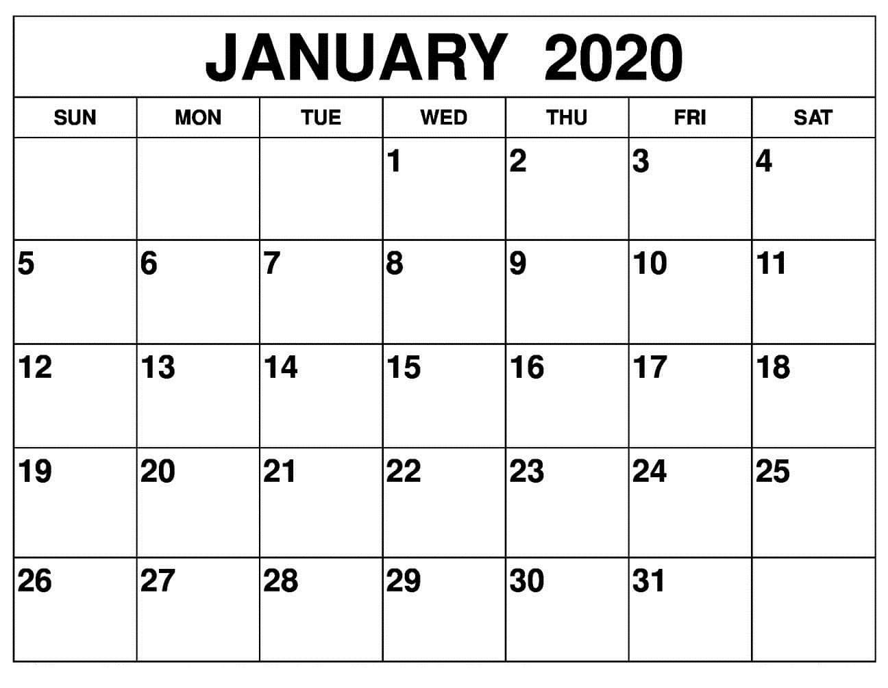 Printable Calendar - Printablecalendar.pictures  Printable Calendar 2020