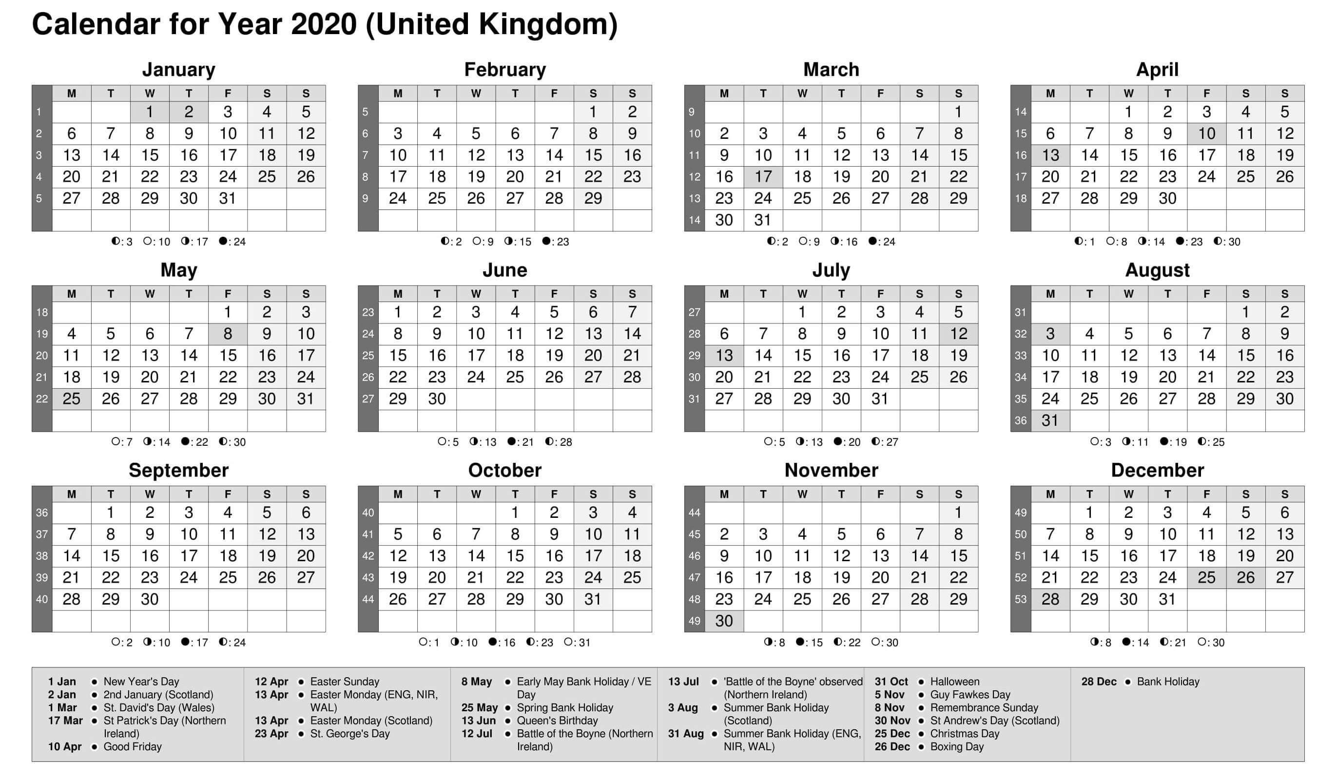 Printable Calendar Year 2020 Holidays Fillable Pdf - Set  Fiscal Year 2020 Calendar