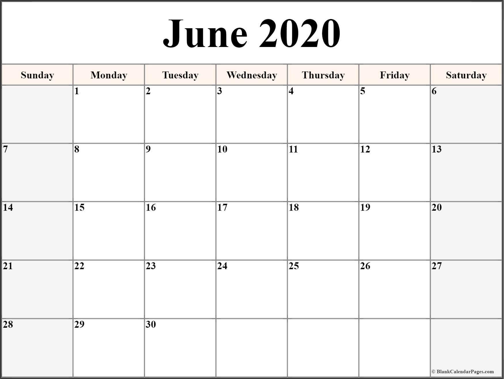 Printable Free Calendar 2020 Di 2020 (Dengan Gambar)  Calendar Template 2020 Printable Free