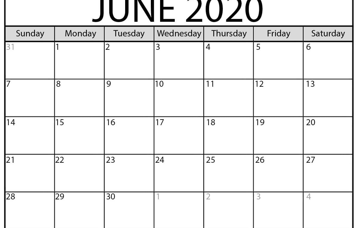Printable June 2020 Calendar - Beta Calendars  Printable Methodist Calendar For 2020