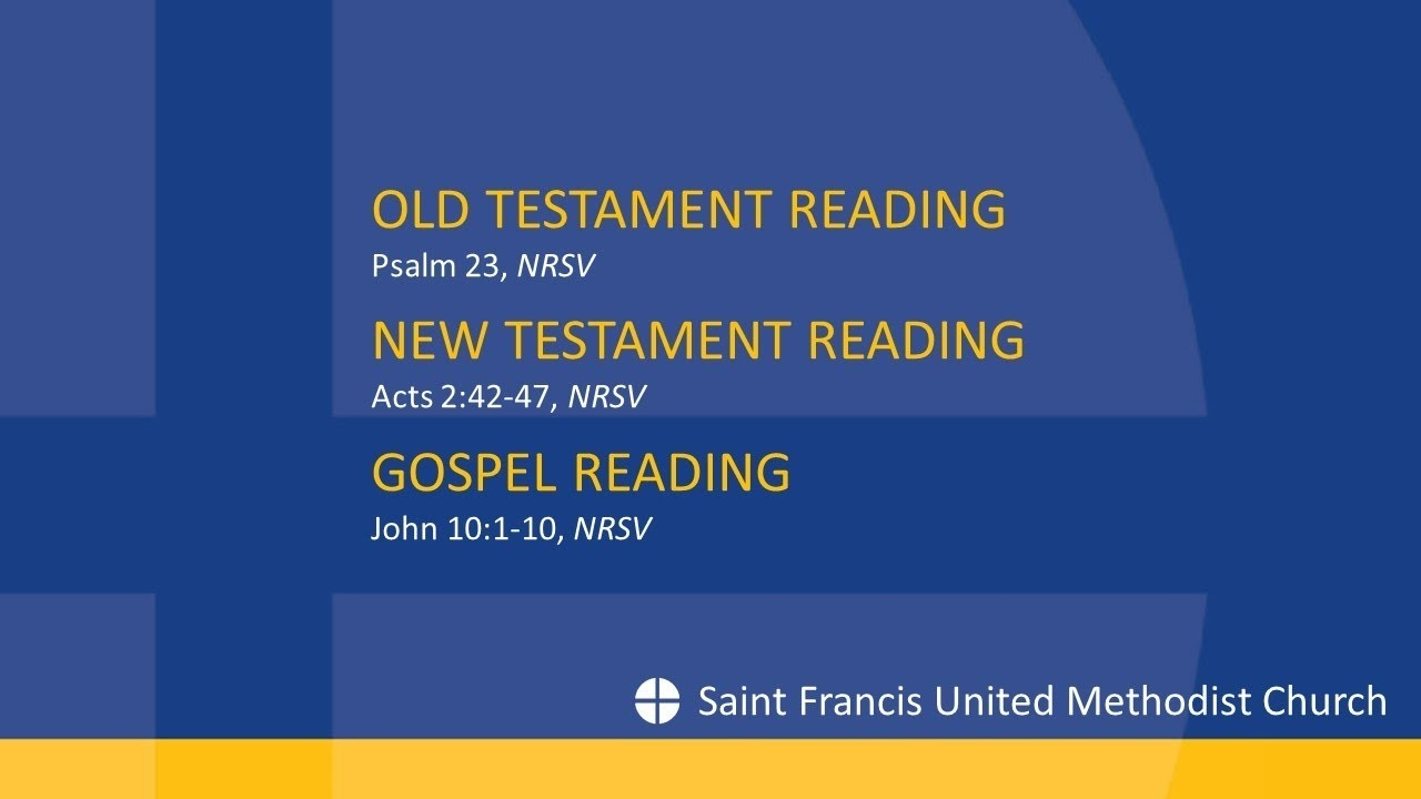Scripture Readings, May 3, 2020  United Methodist Liturgical Readings For 2020