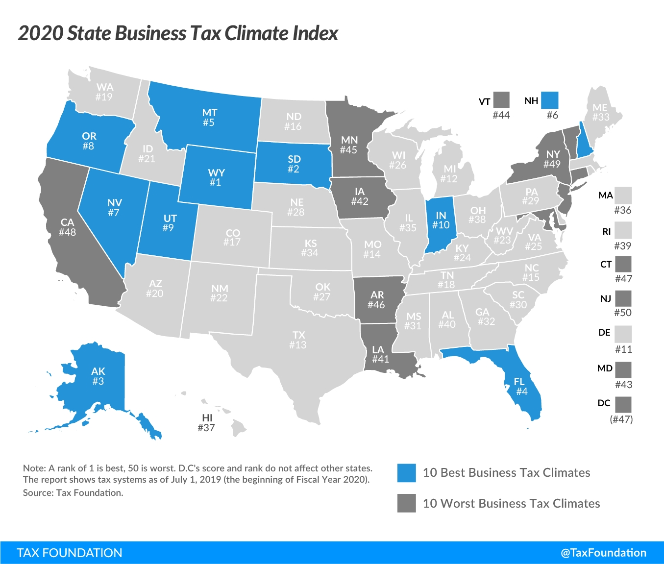 State Business Tax Climate Index | Tax Foundation  Next Tax Free Weekend In Louisiana