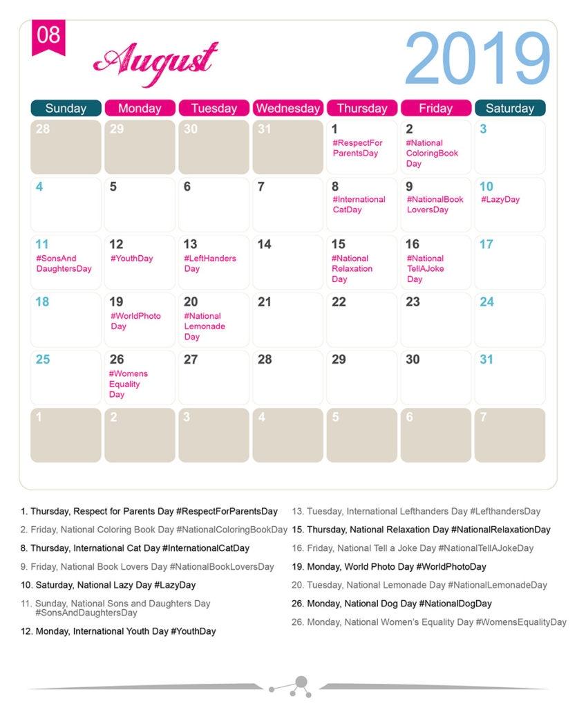 The 2020 Social Media Holiday Calendar | Holiday Calendar  Calendario Depo Provera 2020