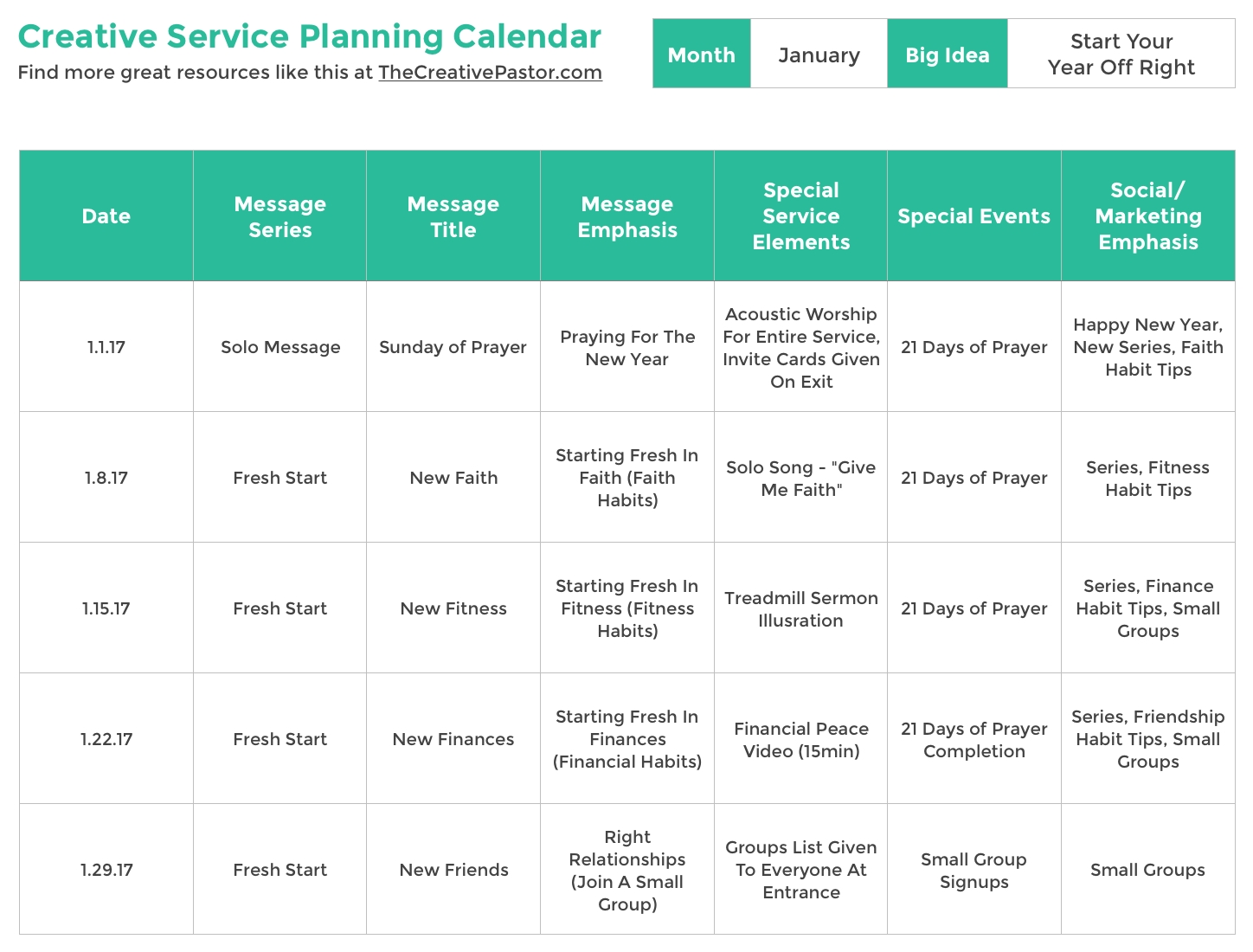 The Essential Planning Calendar Your Church Needs To Be  Calendar Templates For Churches