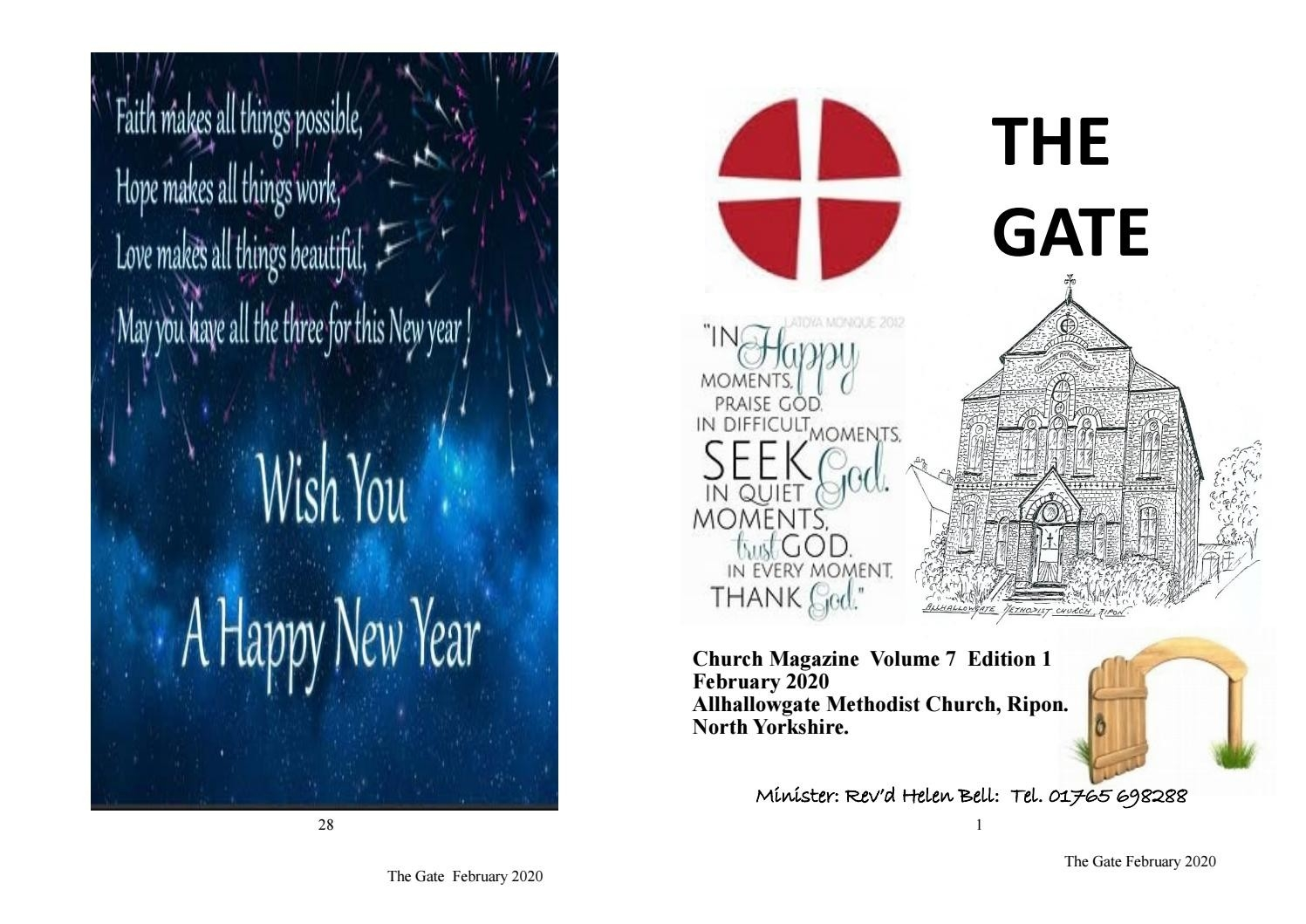 The Gate February 2020Allhallowgatechurchhalls - Issuu  United Methodist Lectionary Readings For February 9 2020