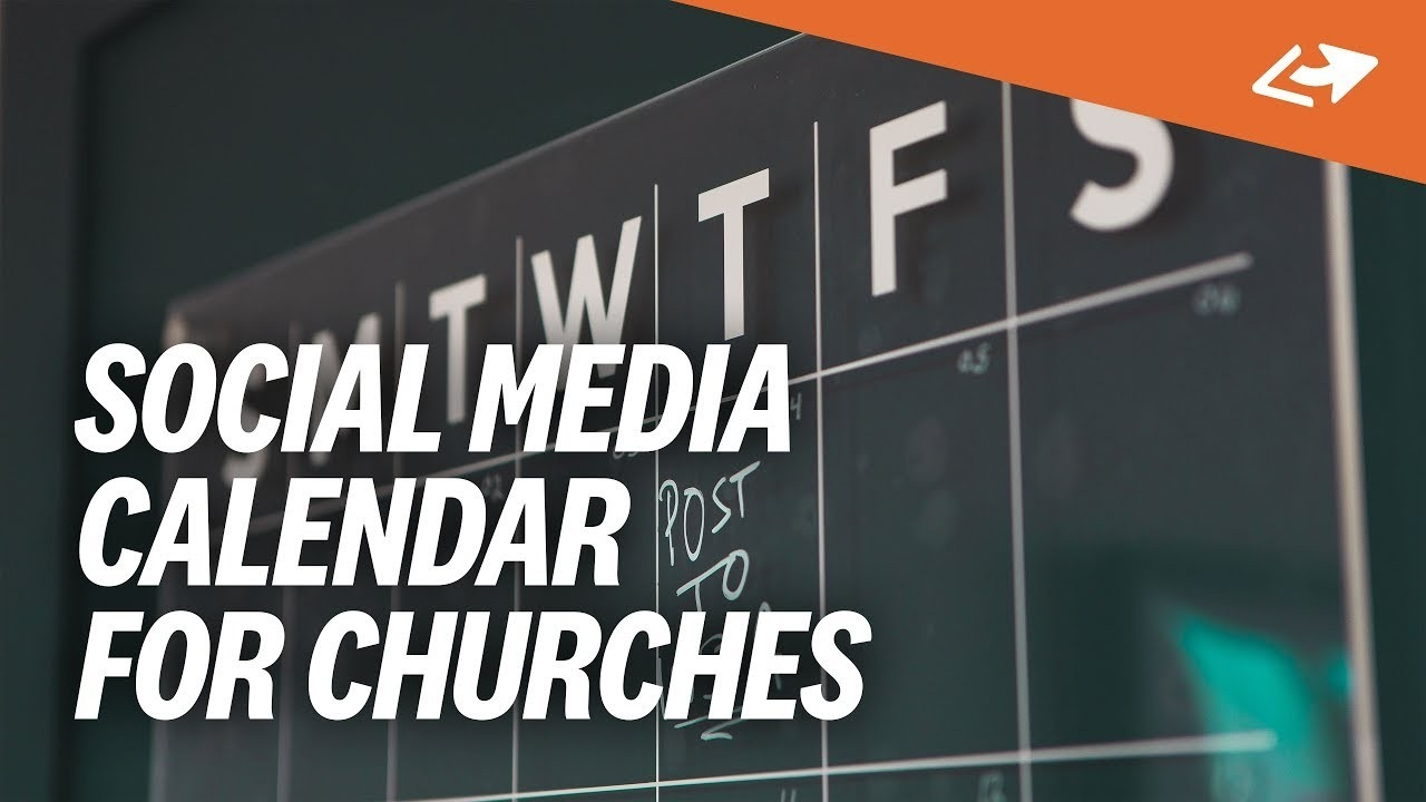 The Ultimate 7-Day Social Media Calendar For Churches  Calendar Templates For Churches