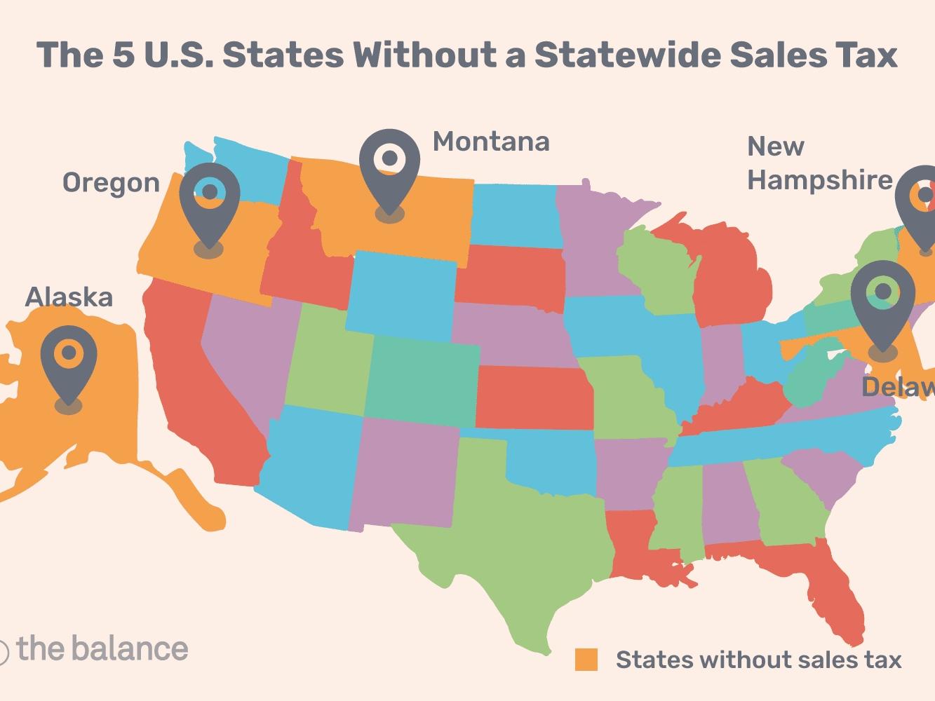 U.s. States With Minimal Or No Sales Taxes  Louisiana Tax Free 2020