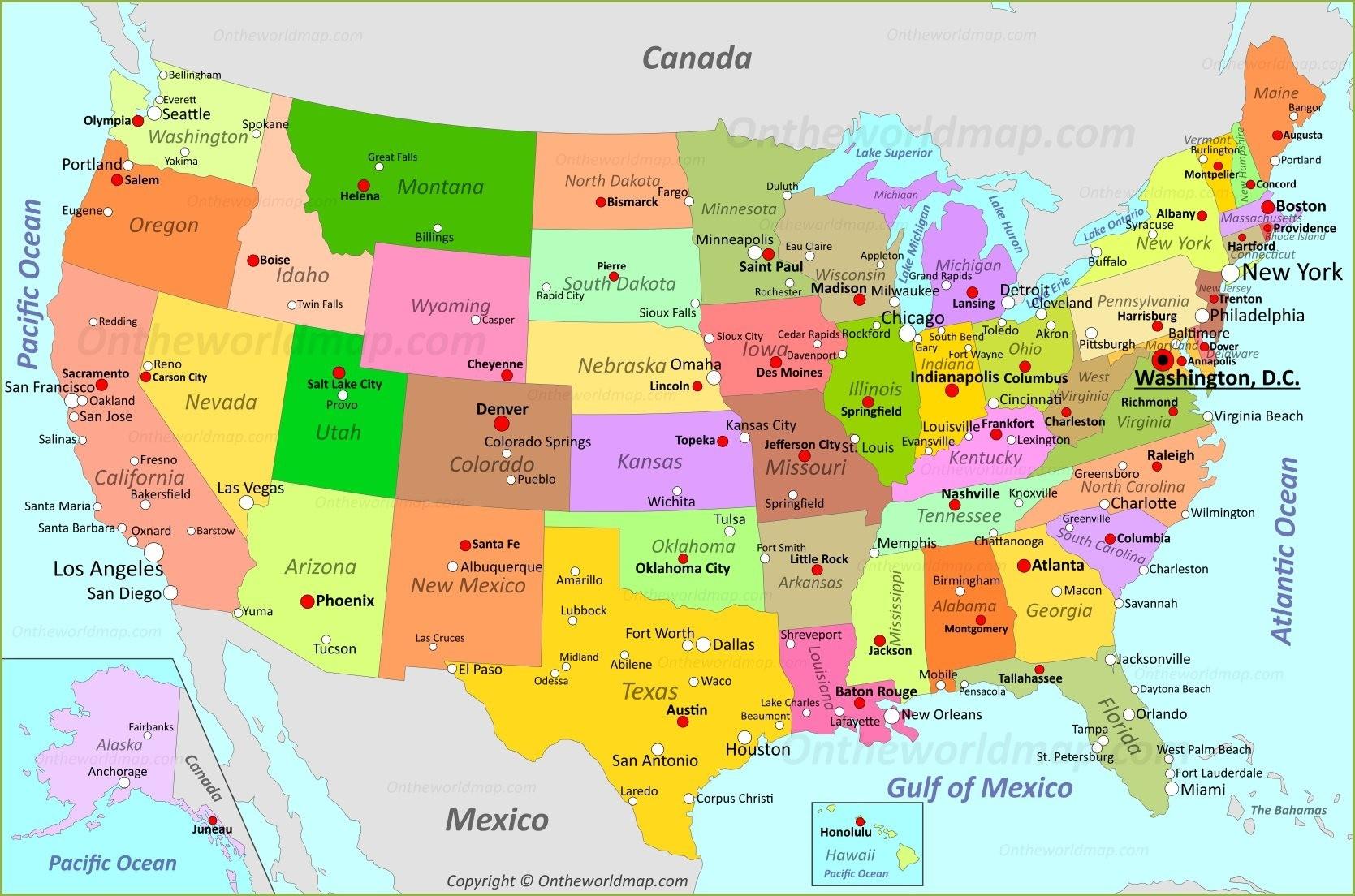 Usa Map   Maps Of United States Of America (Usa, U.s.)  United States Map