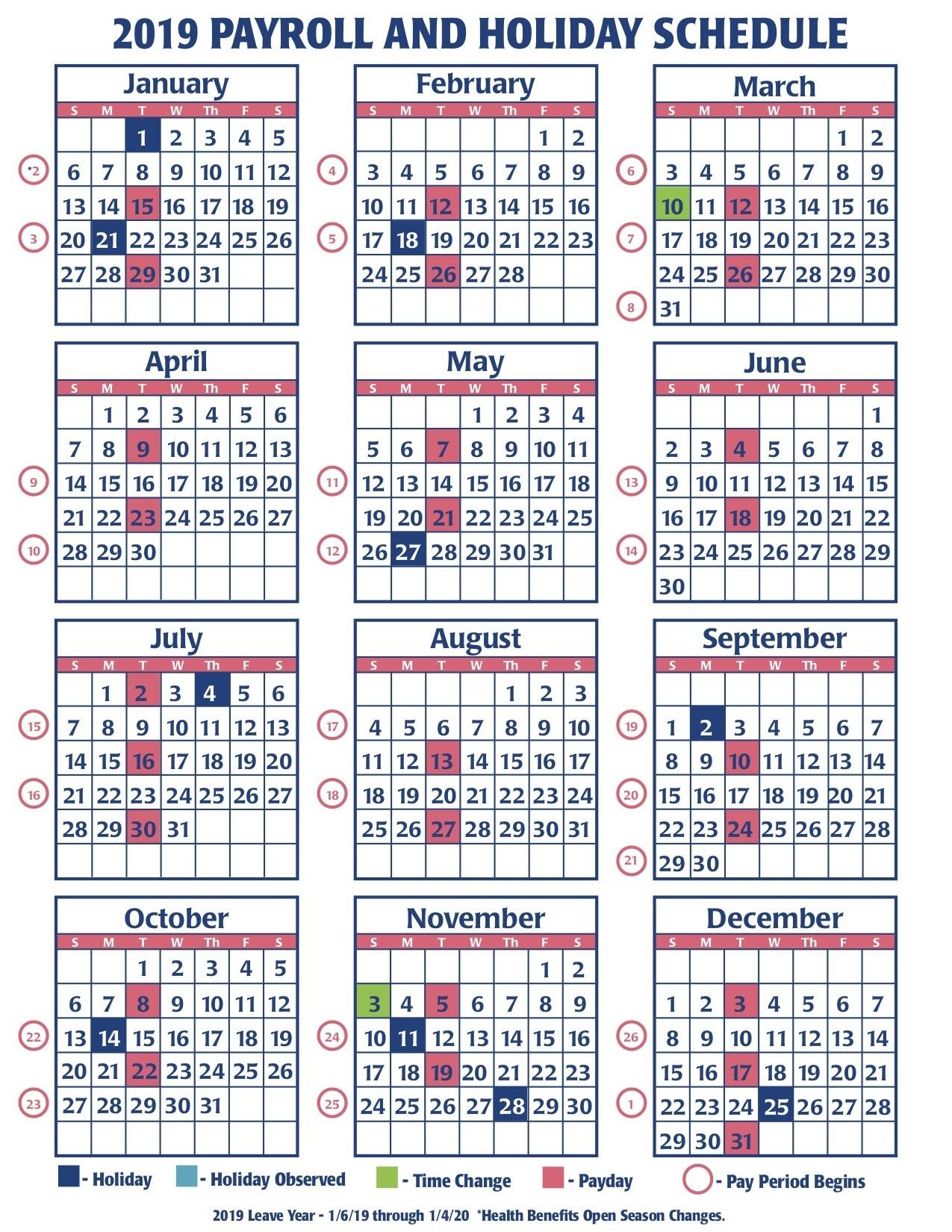 Weekly Payroll Calendar For 2019 | Payroll Calendars 2020  Faa Payroll Calendar 2020
