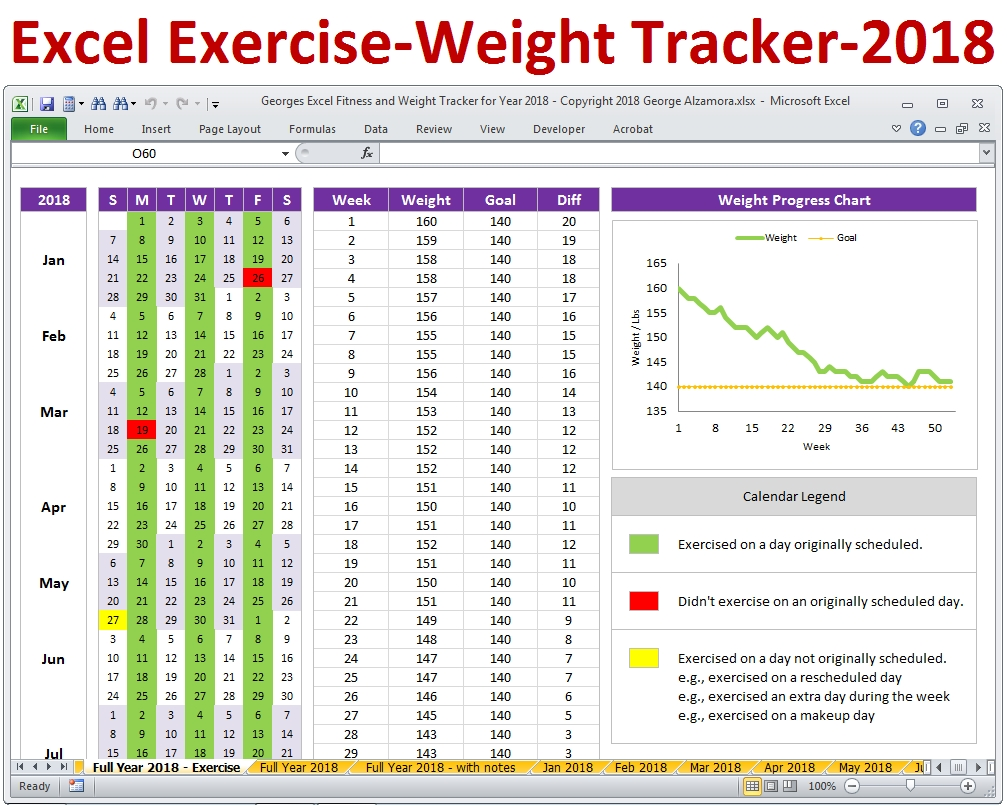 Weight Loss Spreadsheet Template Excel - Akali  Fitness Challenge Tracker Templates