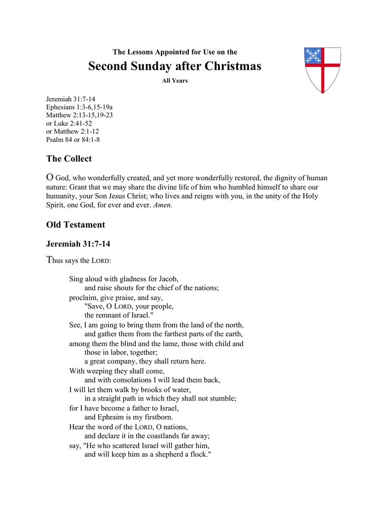 Word Document - The Lectionary Page  Lectionary Page 2020