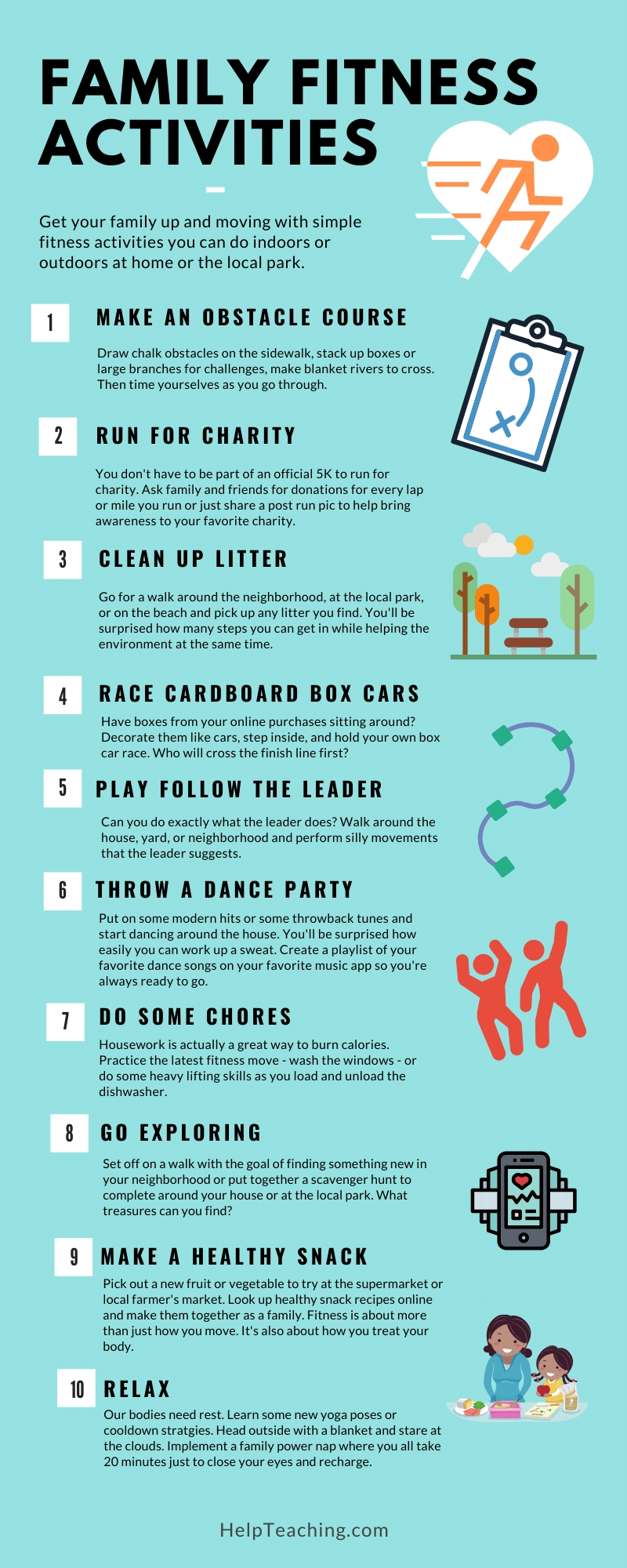 100 Fitness Activities For Families  Fitness Challenges Worksheet