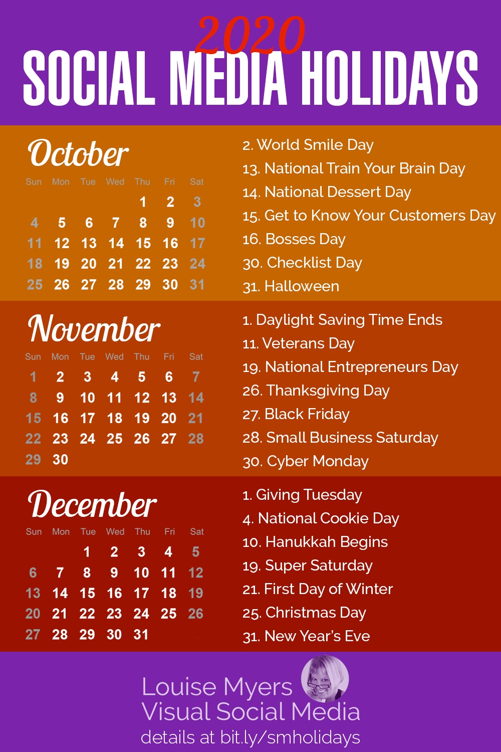 100+ Social Media Holidays You Need In 2020-21: Indispensable!  Printable National Day List 2020