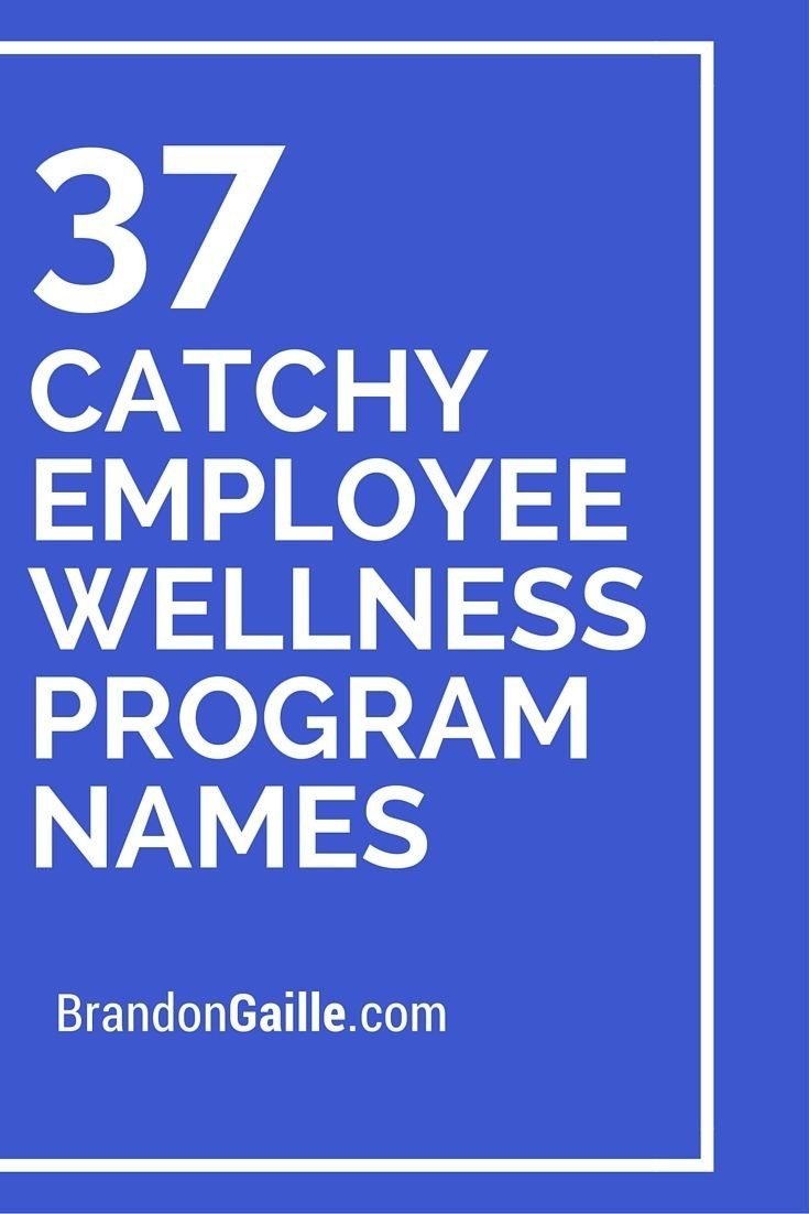 125 Catchy Employee Wellness Program Names | Employee  Eap Monthly Challenge Calendar