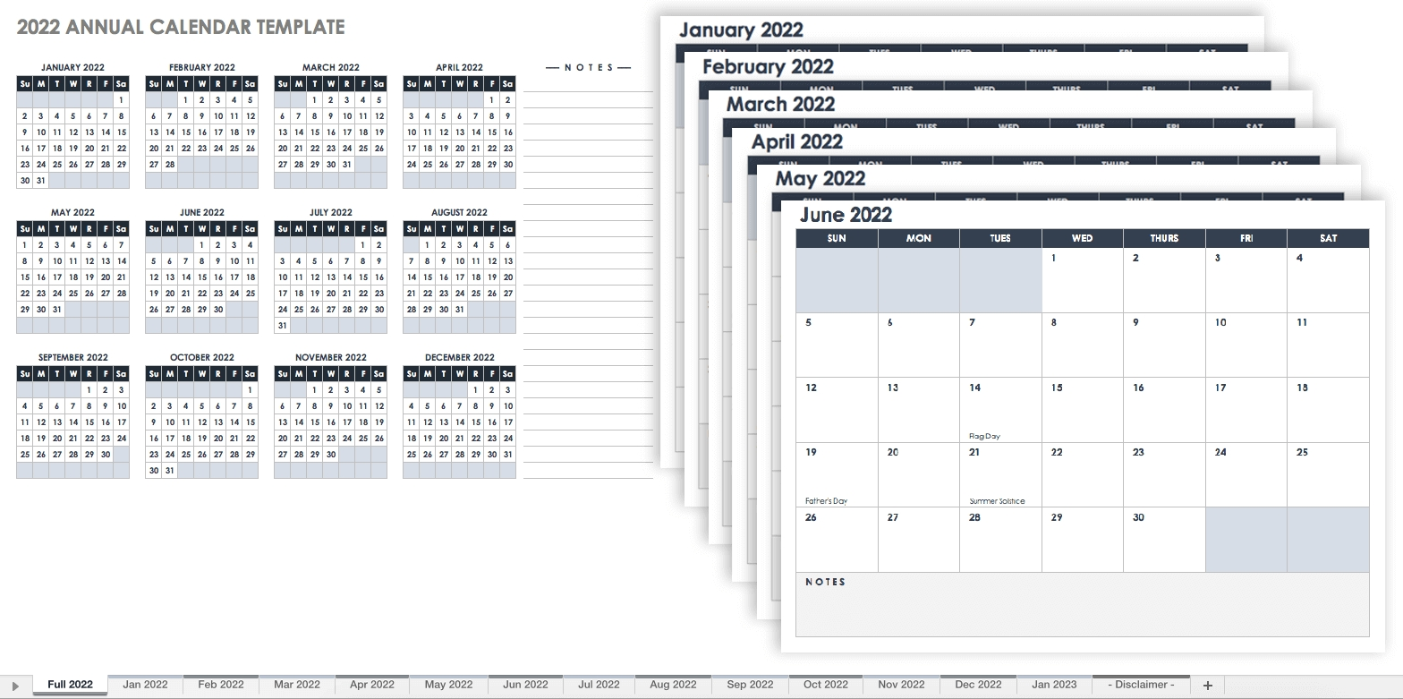 15 Free Monthly Calendar Templates | Smartsheet  6 Month Calendar Template Word