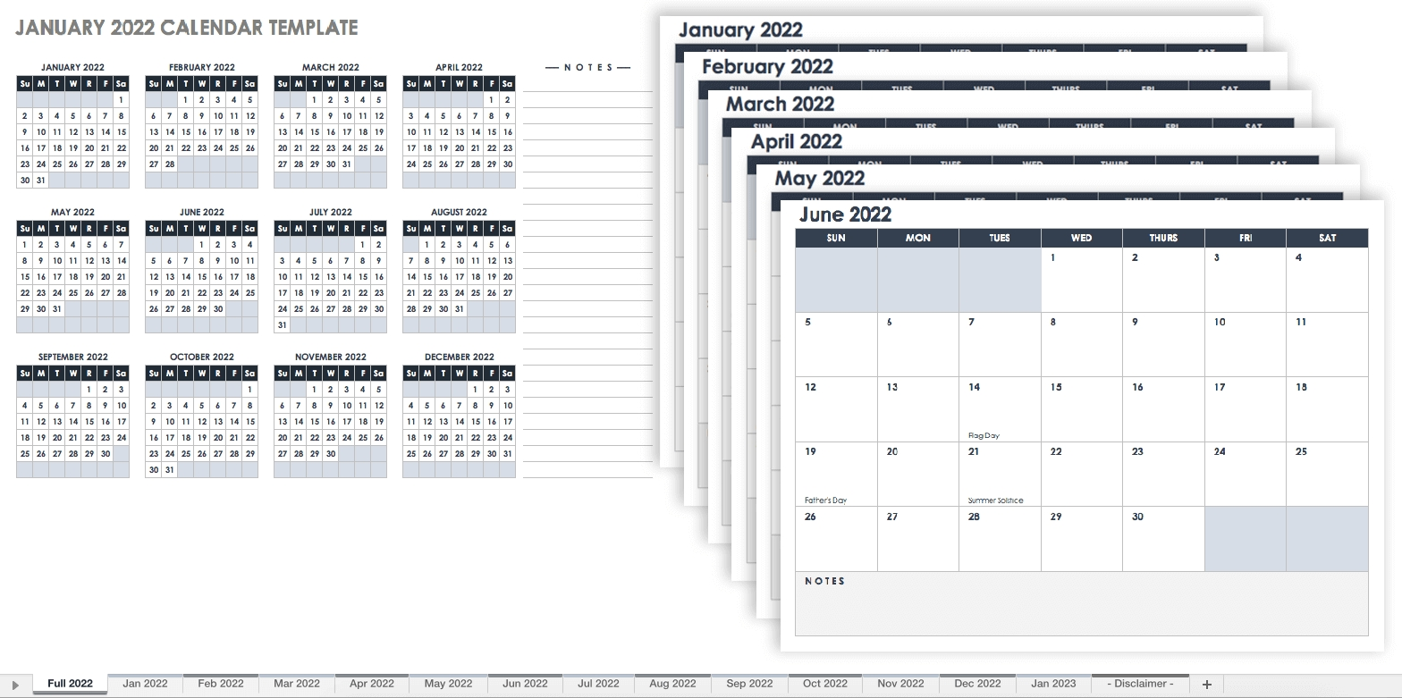 15 Free Monthly Calendar Templates | Smartsheet  Blank Calendar Template With Lines