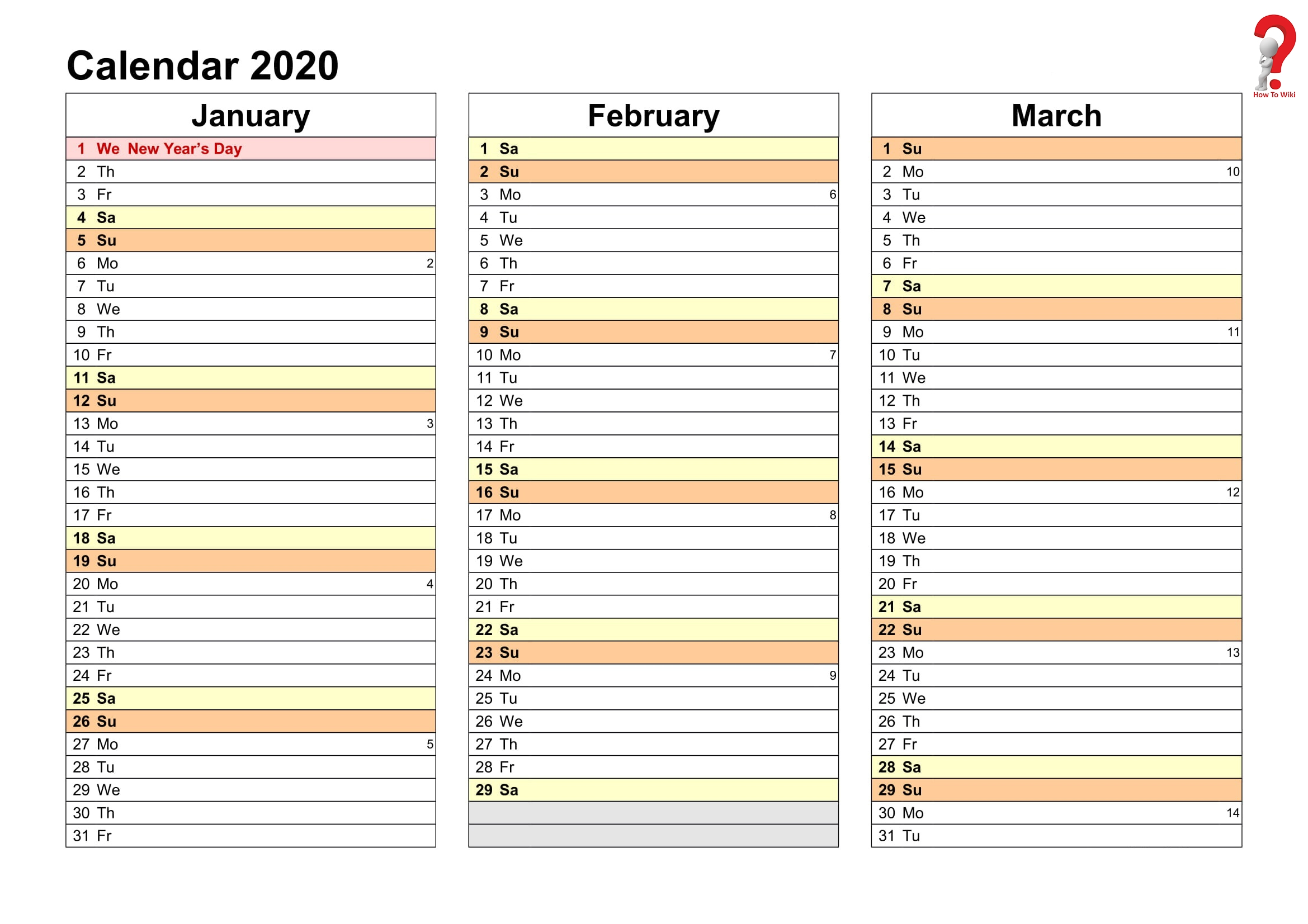2019 And 2020 Yearly Planner In Excel | Free Printable  Excel Yearly Planner