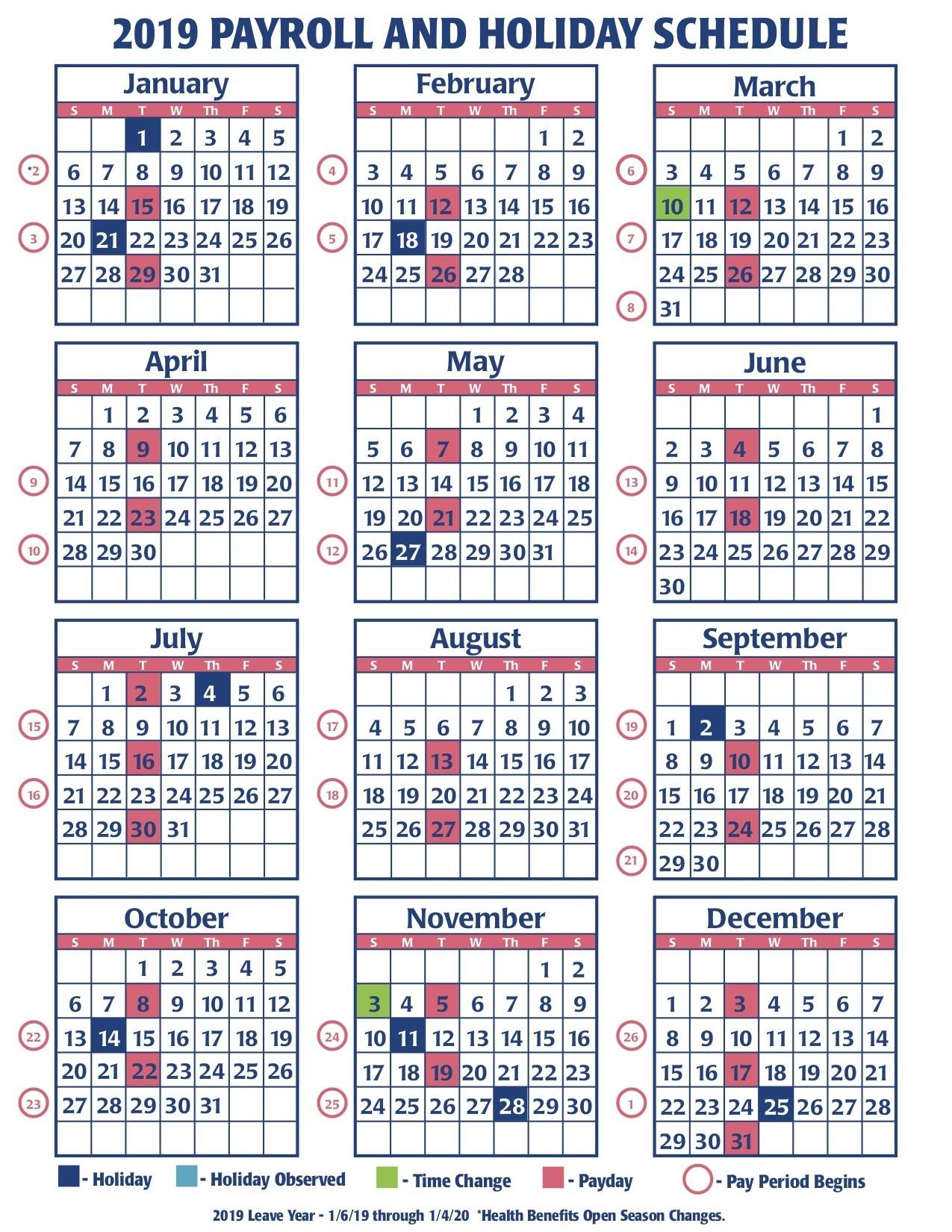 2019 Faa Payroll Calendar | Faa Managers Association  Opm Federal Pay Period Payroll Calendar 2020