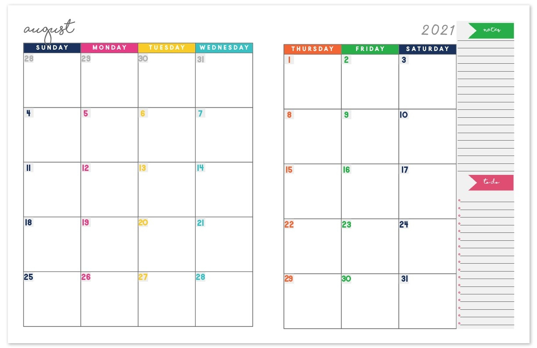 2020-2021 Monthly Calendar Planner | Free Printable Calendar  Printable Calendar Monthly 2021 Free