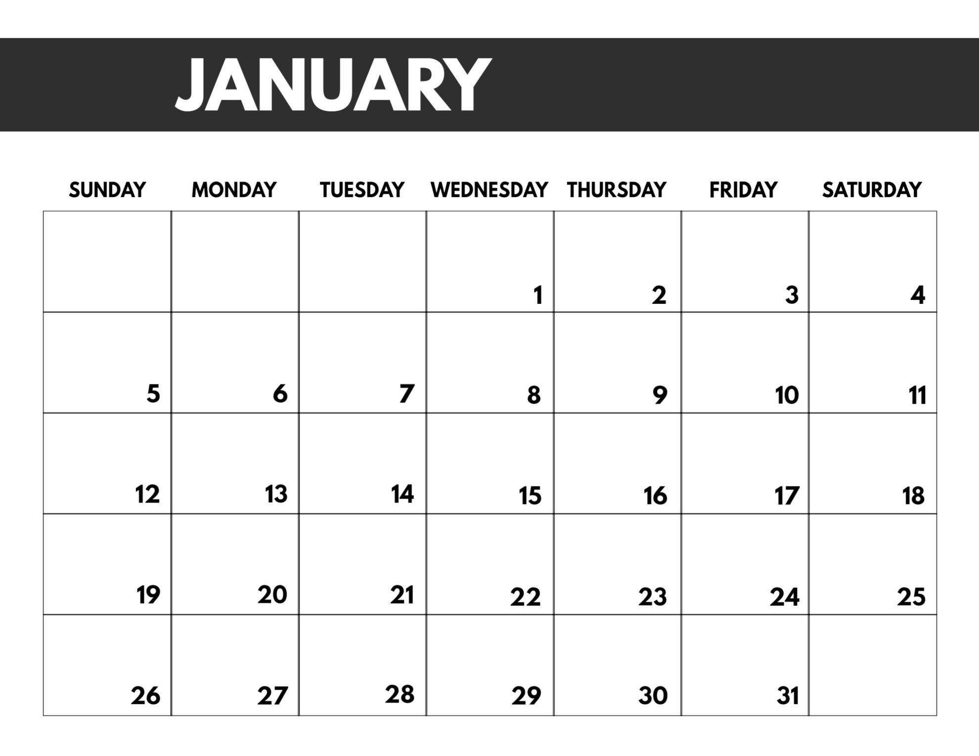 2020 Free Monthly Calendar Template | Paper Trail Design  Free Download Printable 2020 Monthly Calendar