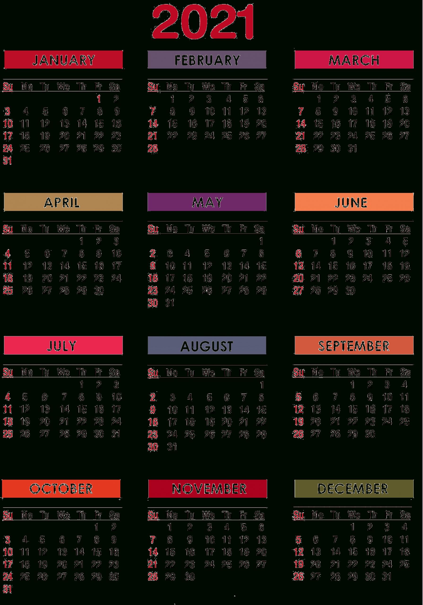 2021 Calendar Png Transparent Images | Png All  Calendar 2021 With Gregorian Dates