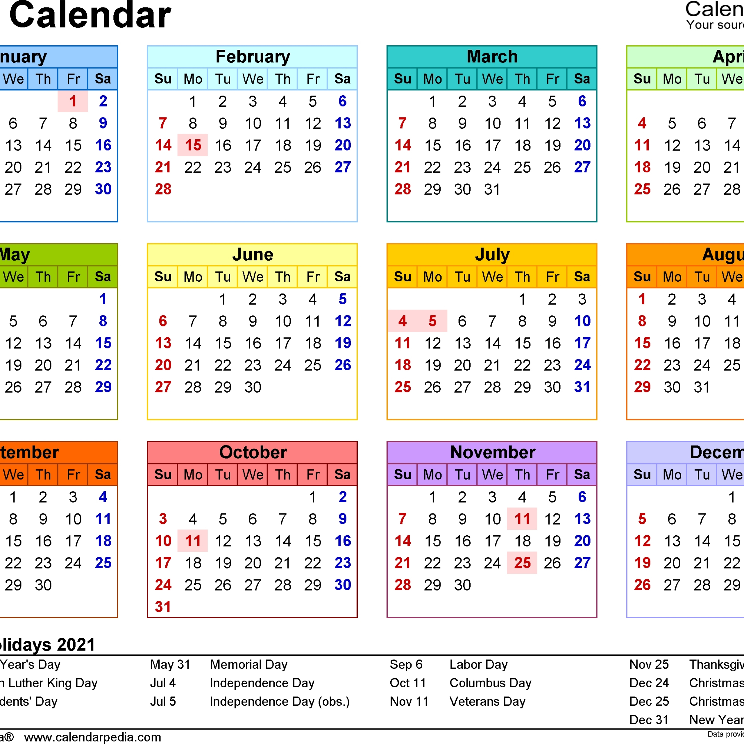 2021 Calendar South Africa In 2020   Calendar Printables  Depo Calendar 2021 Double Sidede