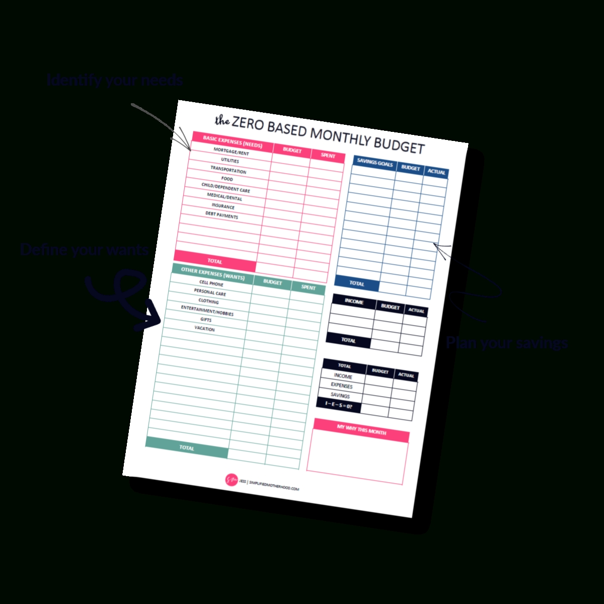 2021] Free Simple Budget Template Printable Pdf – Simplified  Printable Budget Worksheet Free