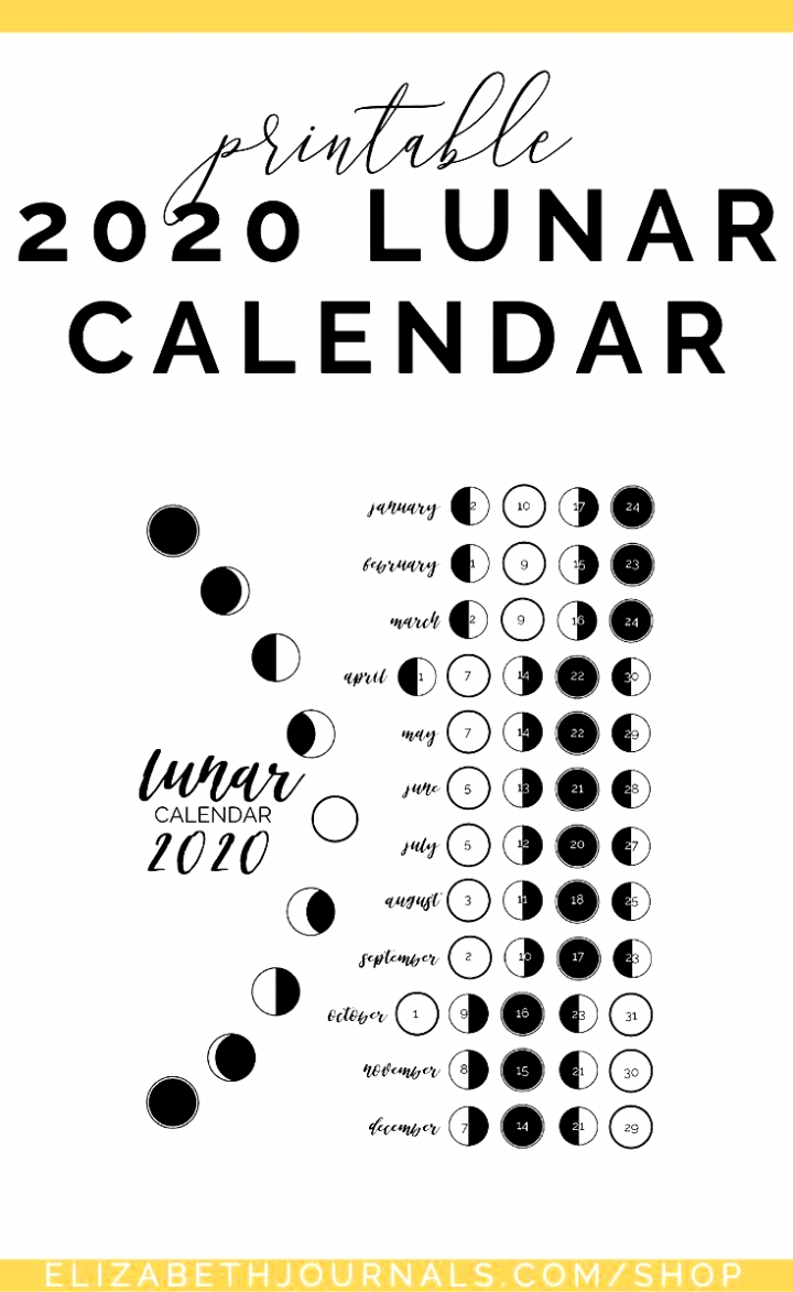 2021 Lunar Calendar #2021 #Lunar #Calendar - 2021 Lunar  Printable Lunar Calendar 2021