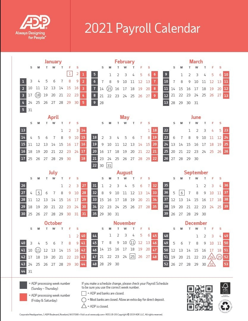 2021 Pay Periods Calendar  Federal Government Pay Calendar With Holidays