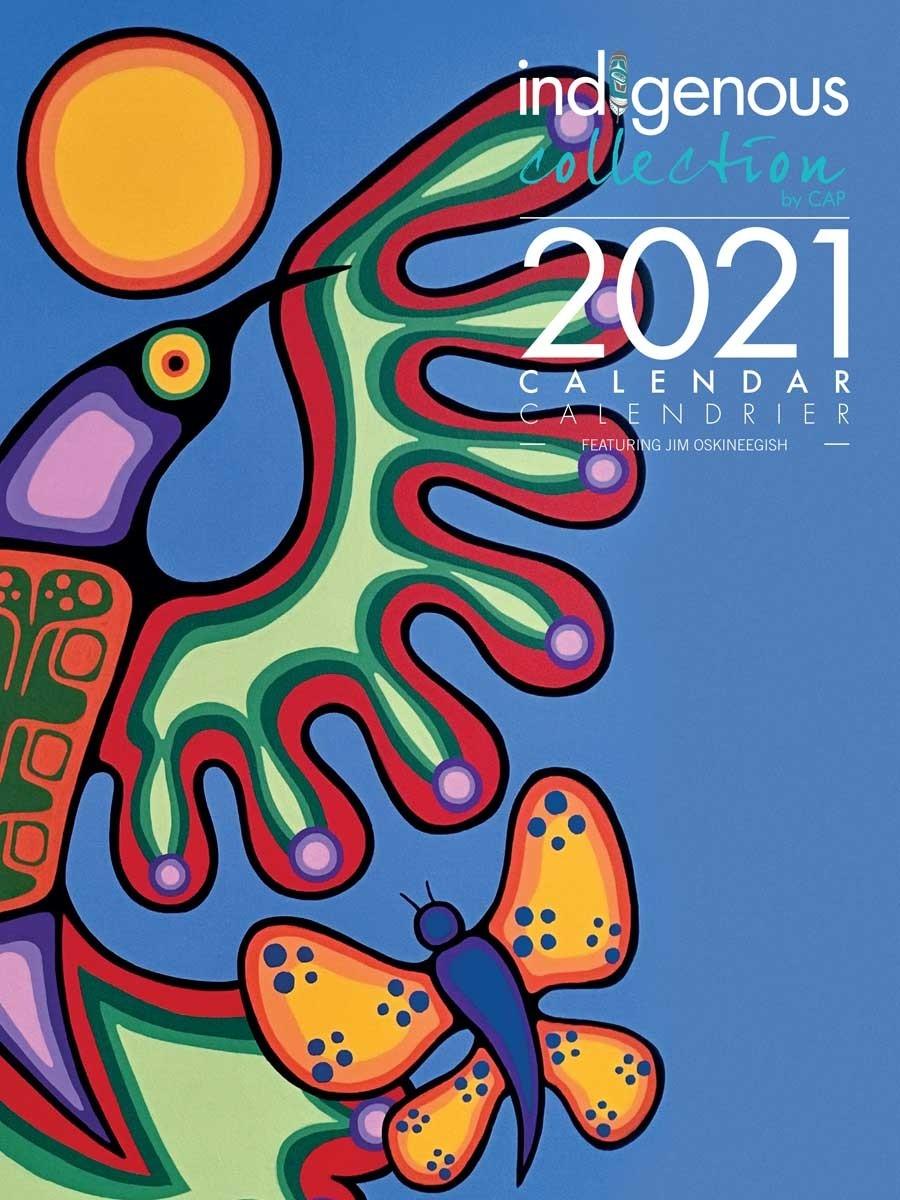 2021 Wall Calendar With Jim Oskineegish Artworks  Fsc Calendar 2021