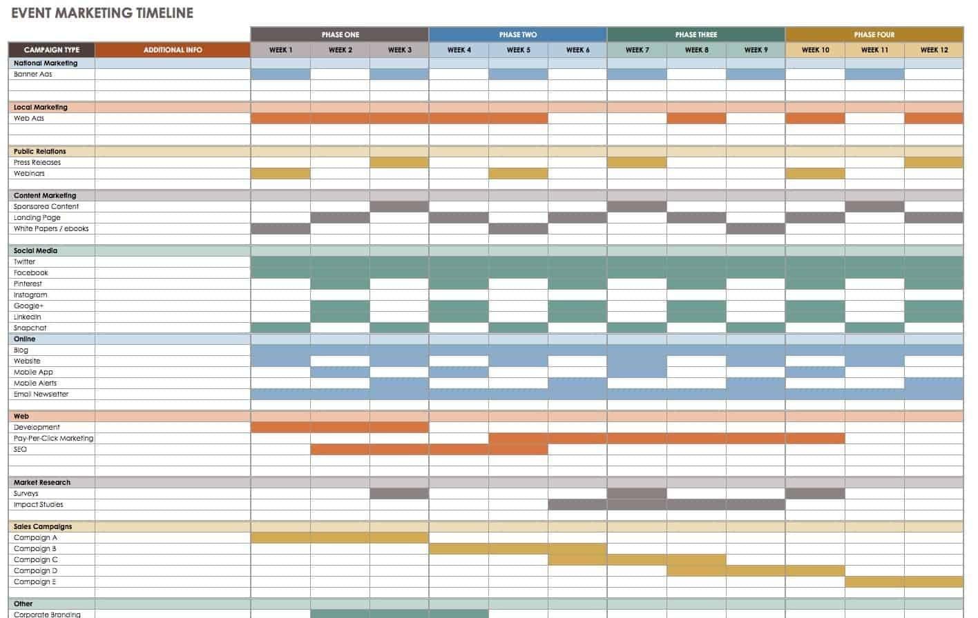 21 Free Event Planning Templates | Smartsheet  Free Event Planner Deadlines Template Excel
