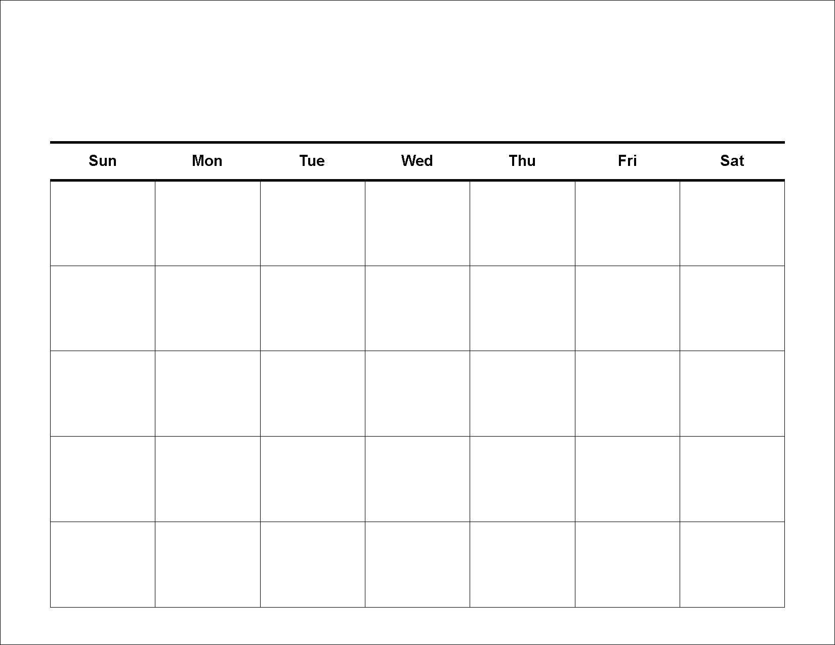 30 Day Blank Calendar Template 2 Week Blank Calendar  Blank 30-Day Calendar