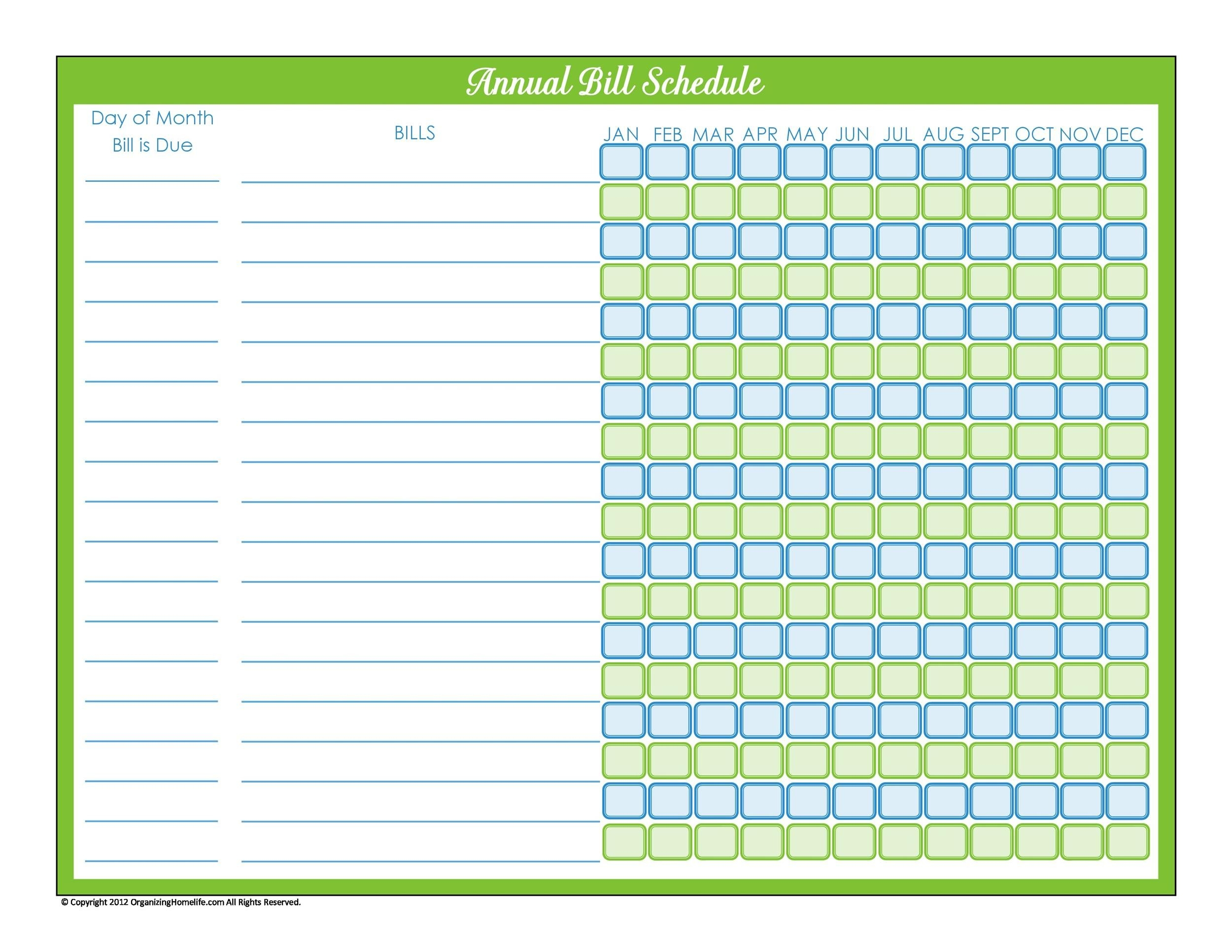 33 Free Bill Pay Checklists & Bill Calendars (Pdf, Word & Excel)  Free Printable Calendar Bill Pay