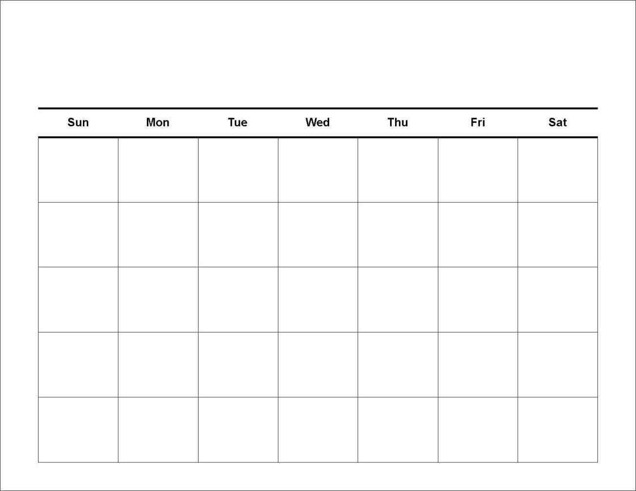 7 Day Calendar Template | Free Printable Calendar Templates  7 Day Week Planner Printable