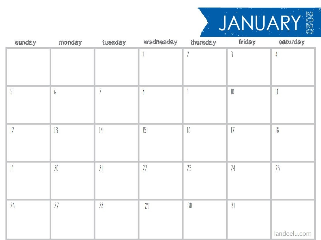 8 Stylish Free, Printable Calendars For 2020  A3 Calendar Template