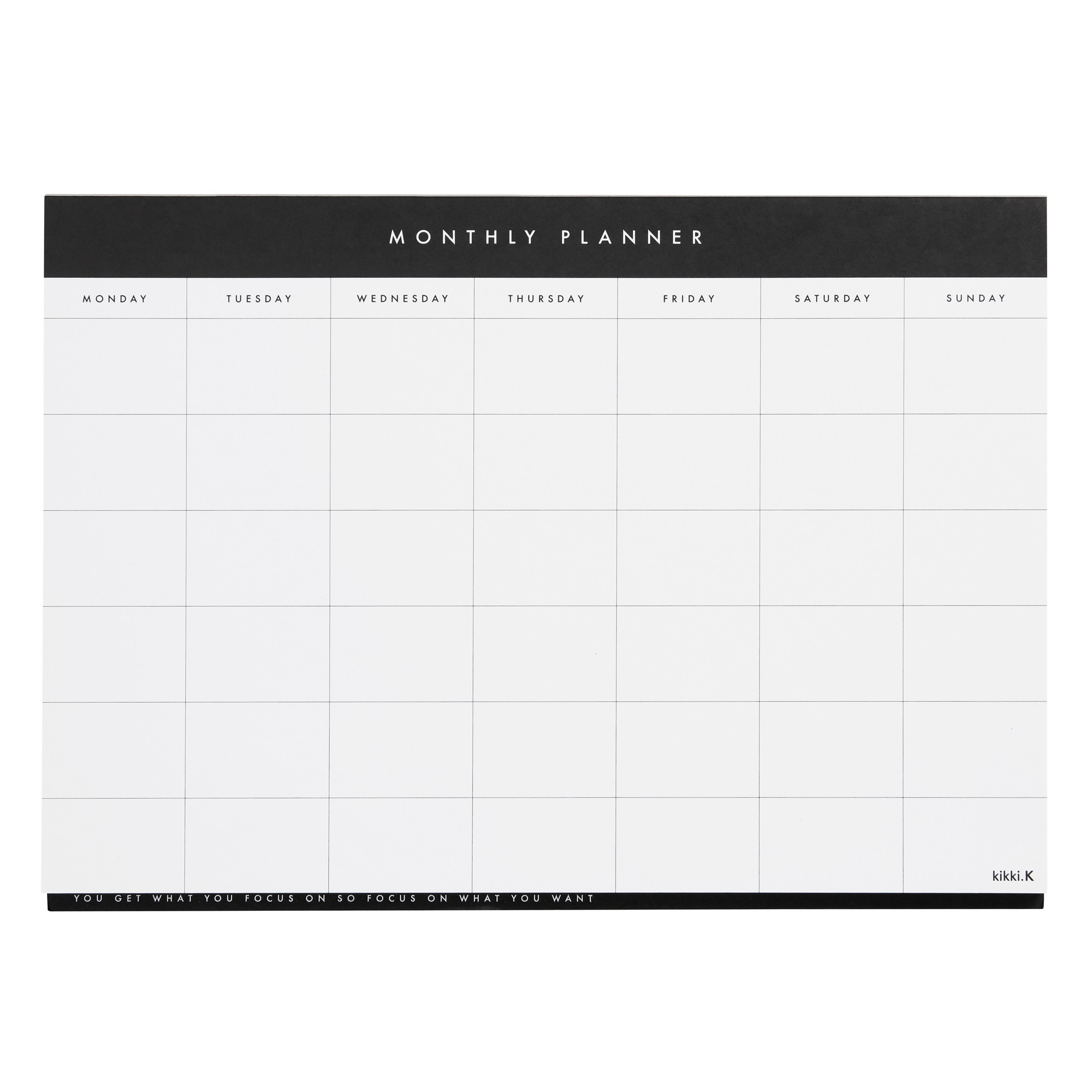 A4 Monthly Planner Pad White: Essentials  Monthly Planner