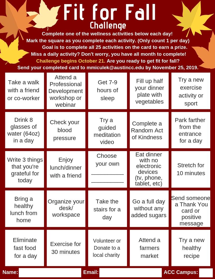 Access Employee Wellness | Staff Professional Development  Eap Monthly Challenge Calendar