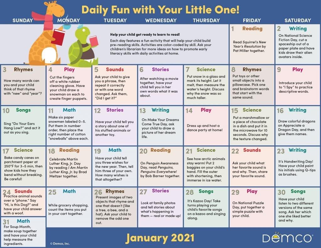 Activity Calendar Archives - Ideas & Inspiration From Demco  3 Month Summer Calendar