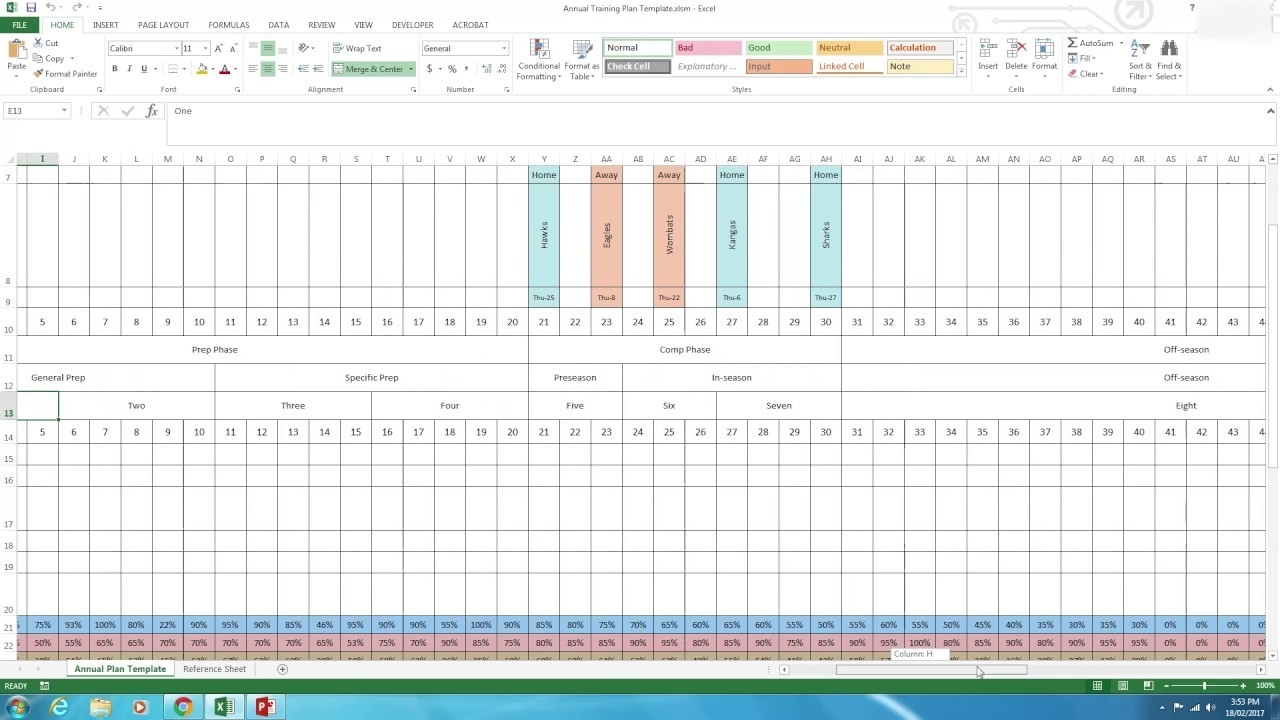Annual Plan - How To Use The Excel Template  Excel Yearly Planner