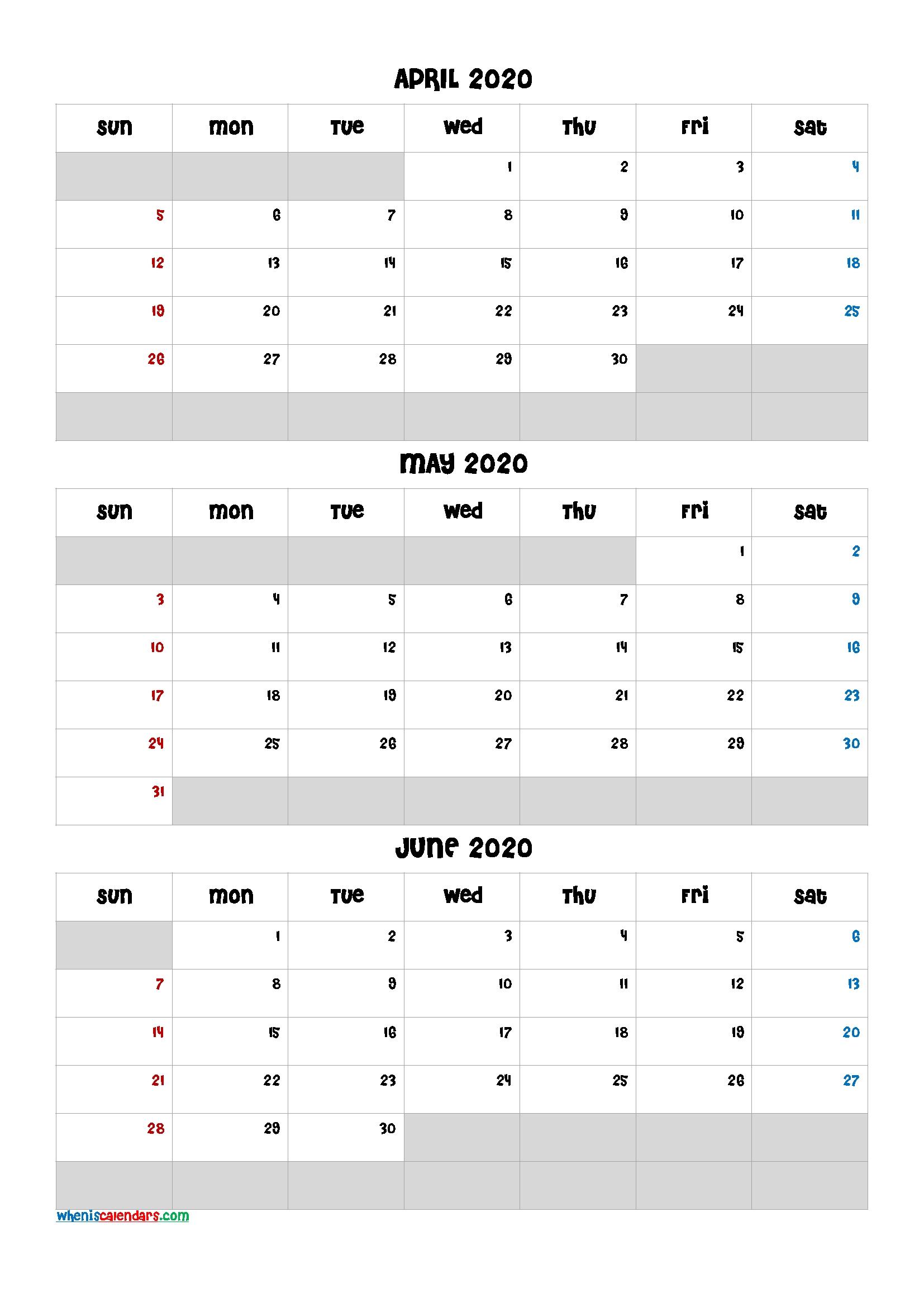 April May June 2021 Free Printable 3 Month Calendar-21Ch5  Free Triple Month Calendars 2021